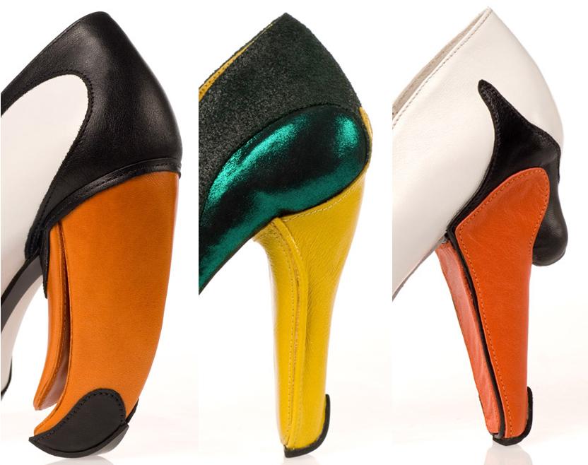 bird head heels