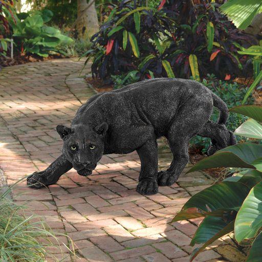 Shadowed Predator Black Panther Garden Statue.jpg