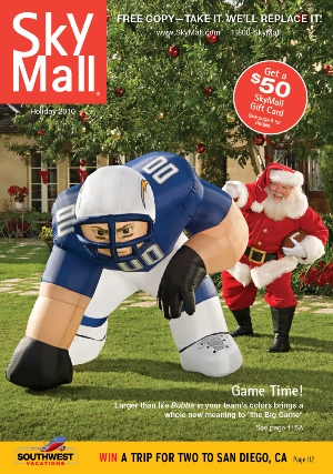 SkyMall Southwest blow up football player