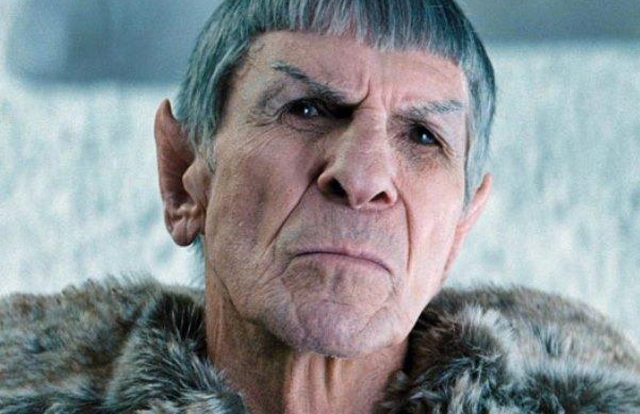 Leonard Nimoy reprises his role as Spock in the rebooted version ofStar Trek (2009)
