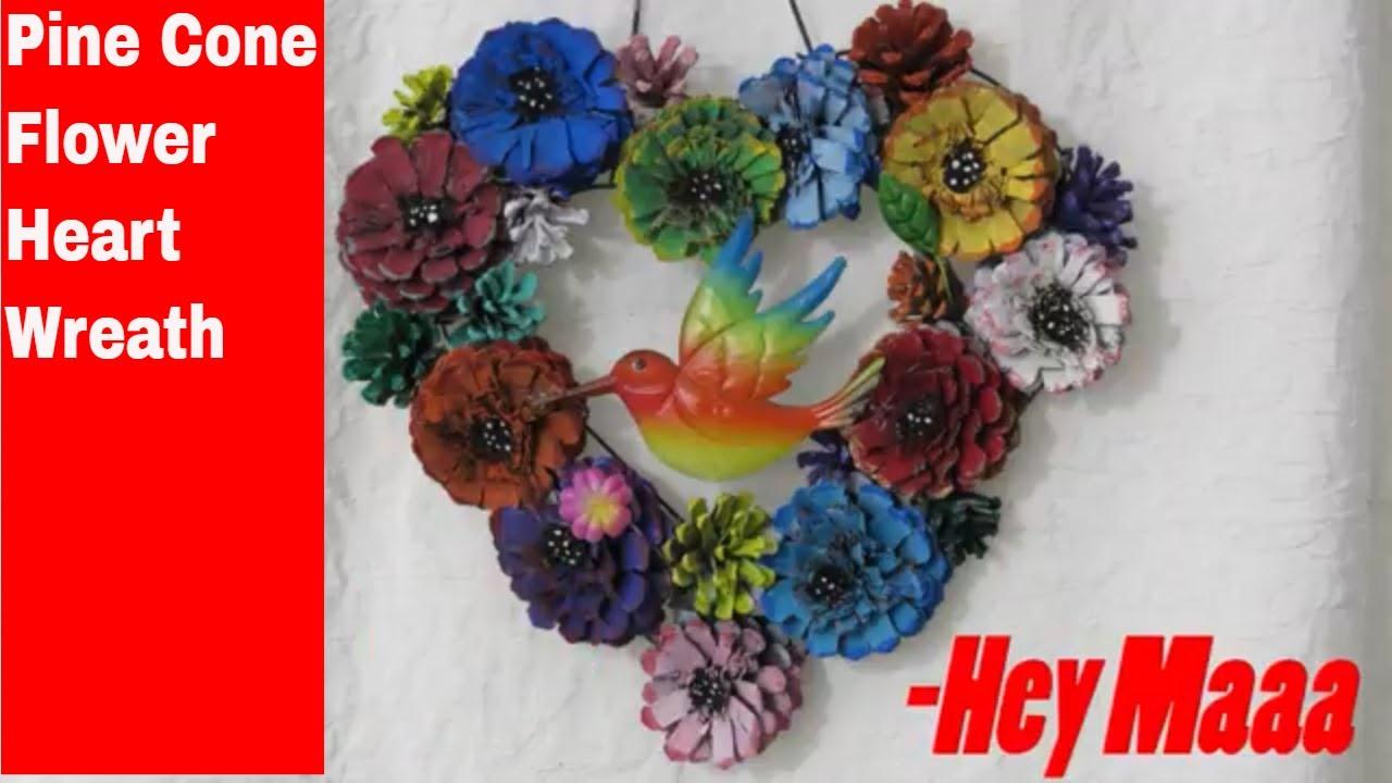 DIY Pine Cone Flower Heart 💖 Wreath for Spring 🌸🌼💐Valentine's Day 💖Spring Door Decoration.jpg