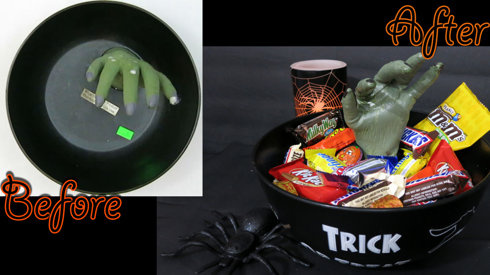 How to Revamp an old Halloween Decoration, Witch Hand Candy Bowl.jpg