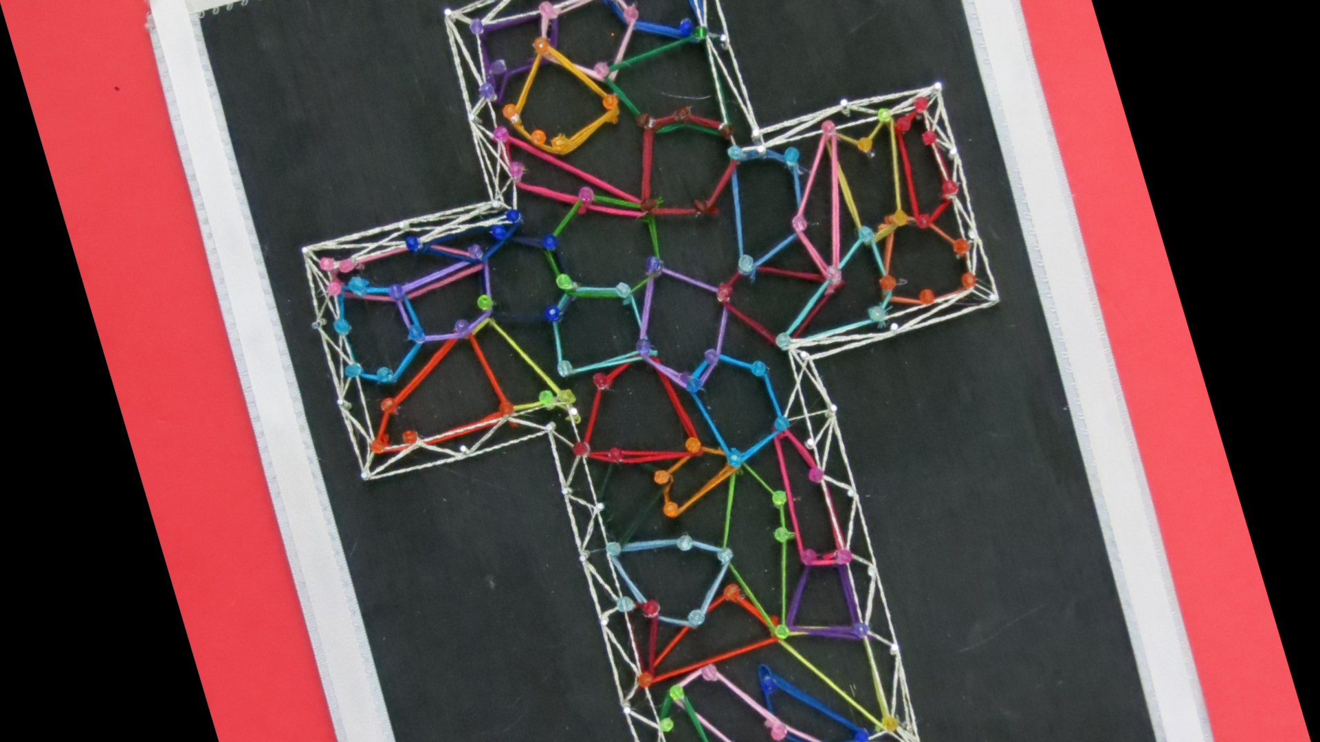 String Art Stained Glass Cross Multicolored by Hey Maaa.jpg