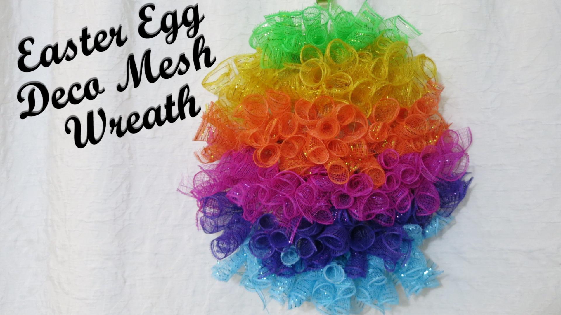 Deco Mesh Easter Egg Wreath spiral method.jpg