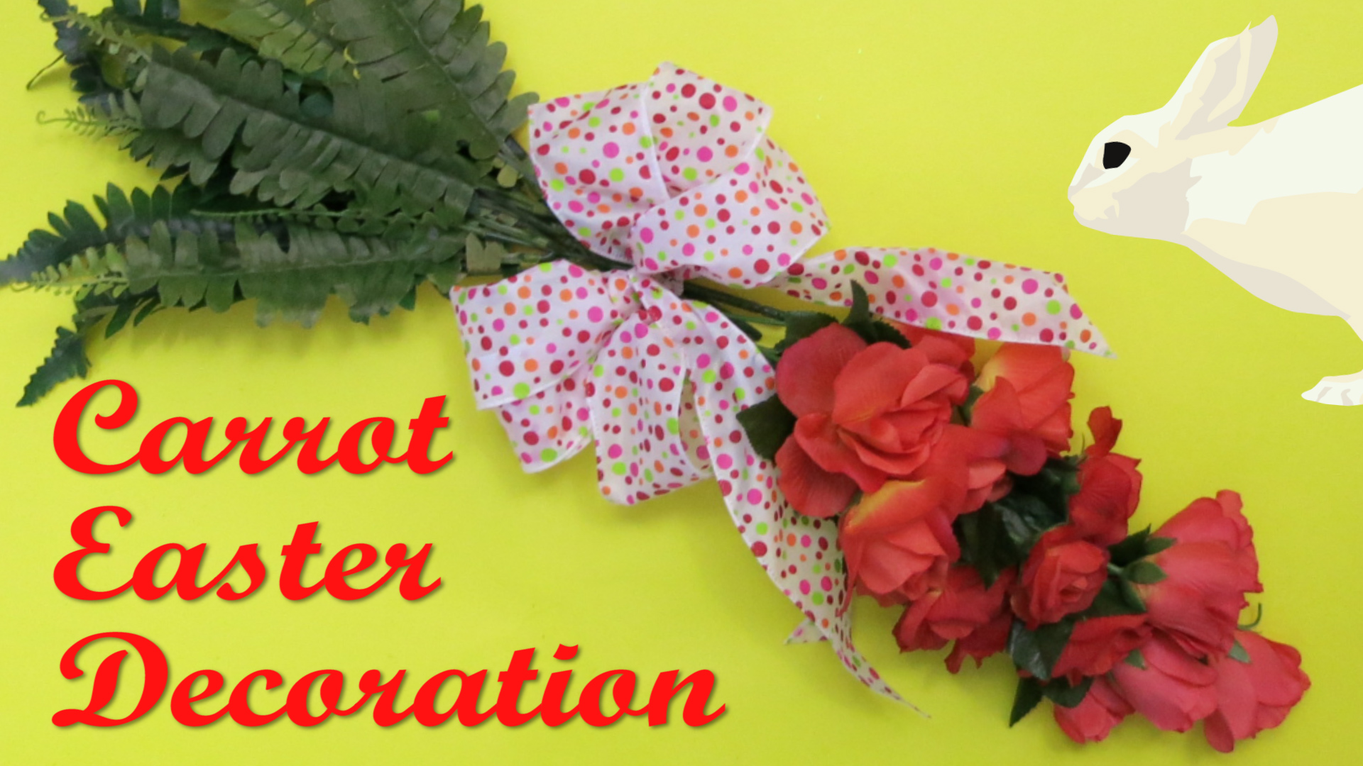 Carrot Easter Decoration made out of Roses and Ferns.jpg