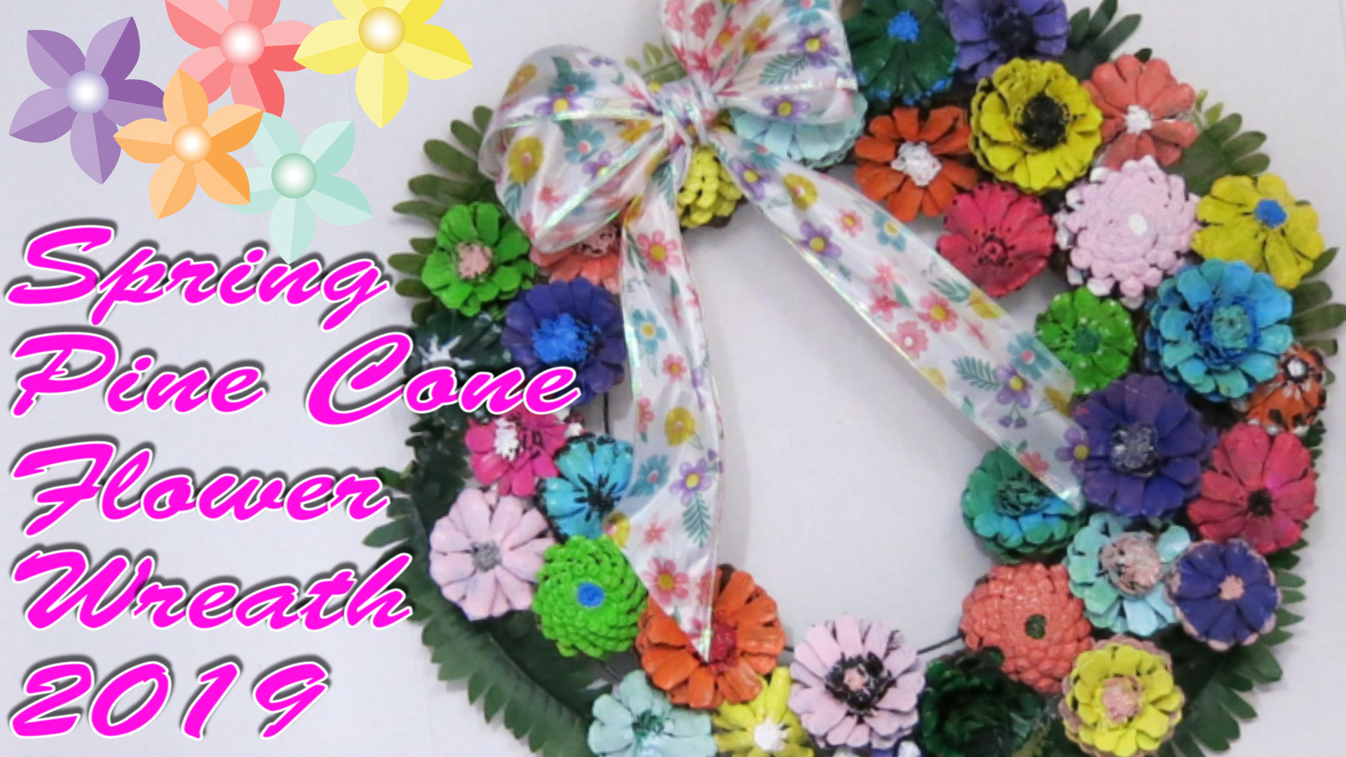 DIY Spring Pine Cone Flower Wreath 2019.jpg