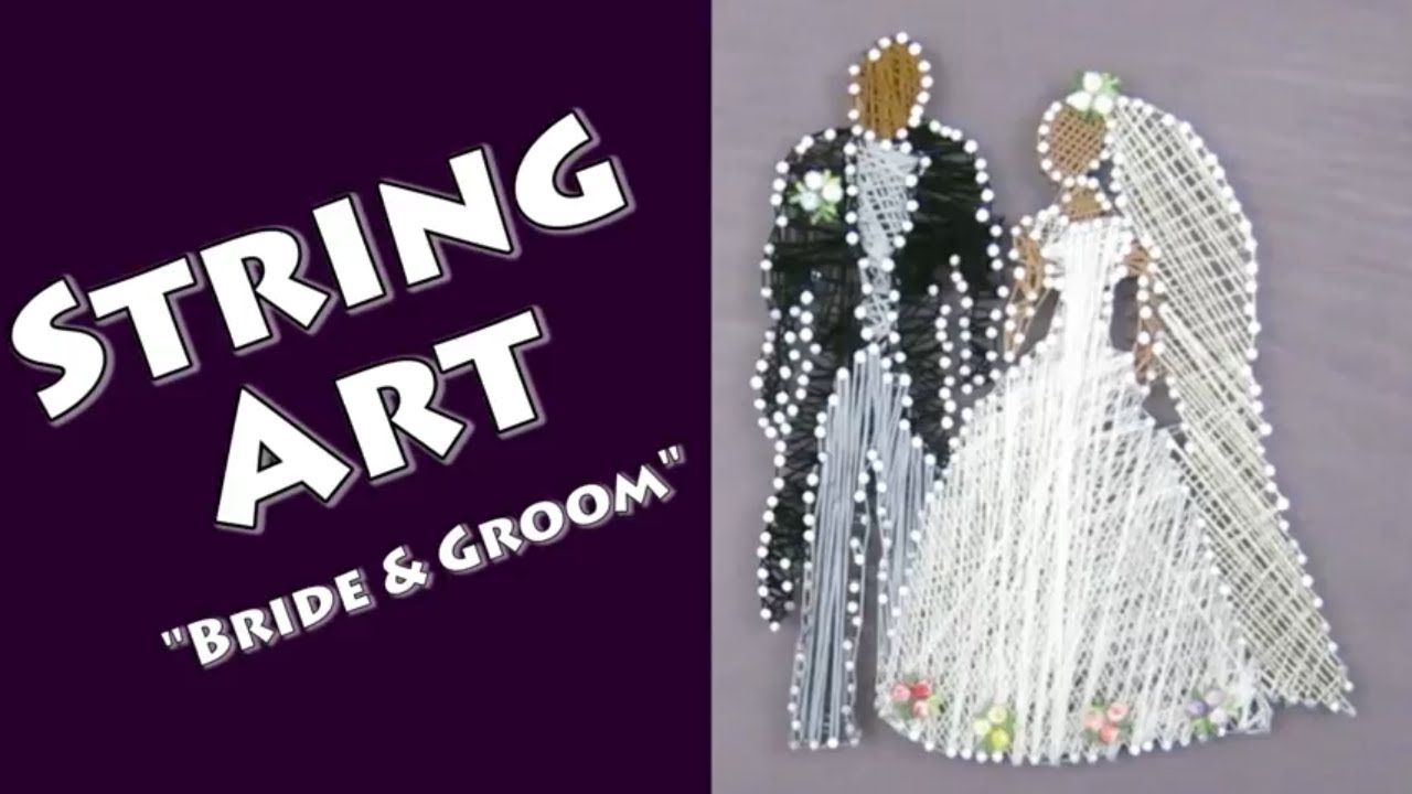 String Art of a Married Couple, Wedding Bride and Groom, Anniversary Gift a by Hey Maaa.jpg
