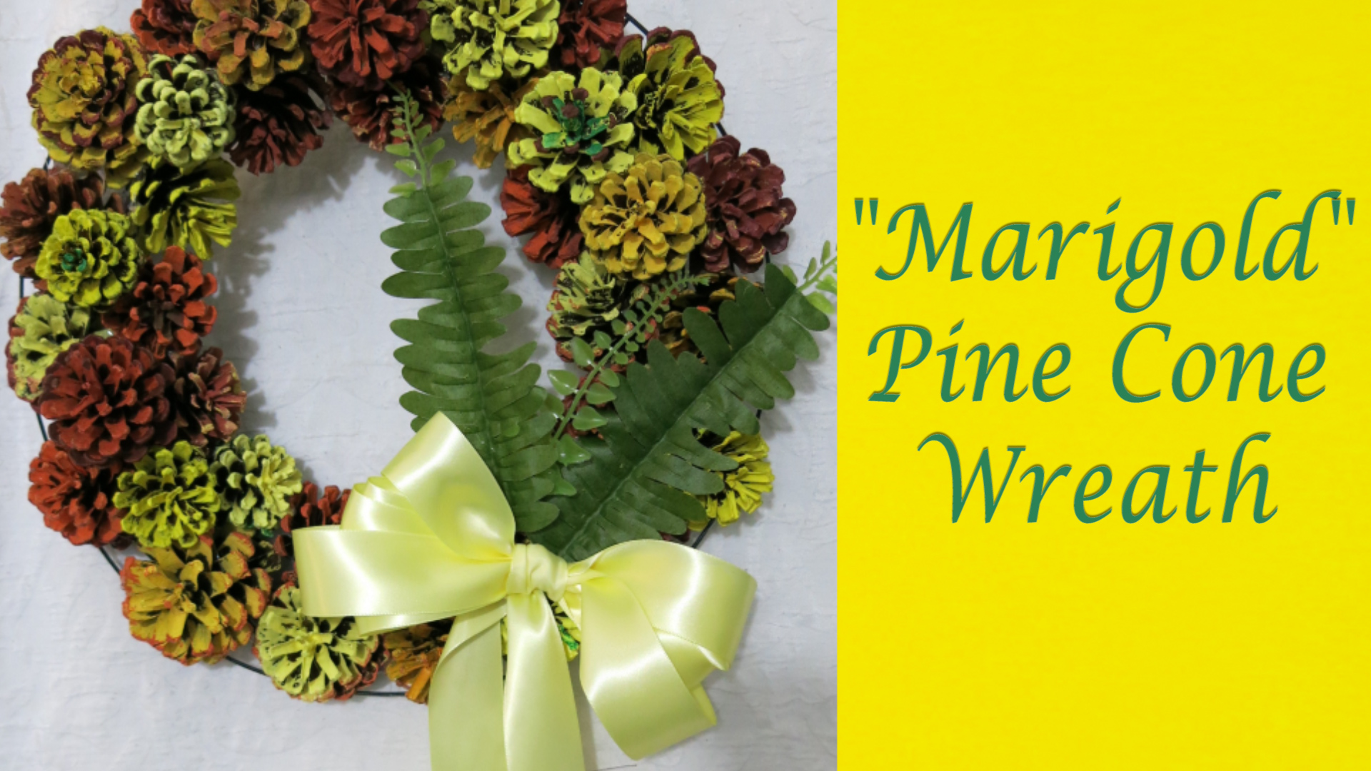 Marigold Pine Cone Wreath for Late Summer Early Fall 1.jpg