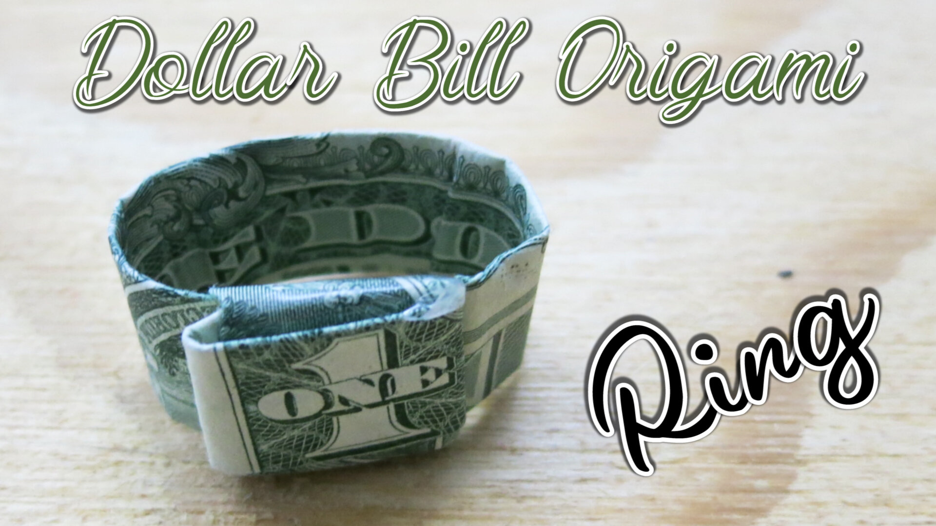 Origami Money Dollar Bill Ring - Best Step by Step Instructions   563x1000