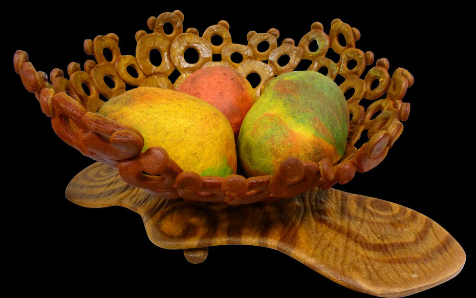 Made of Dough: Bowl of mangoes on a platter