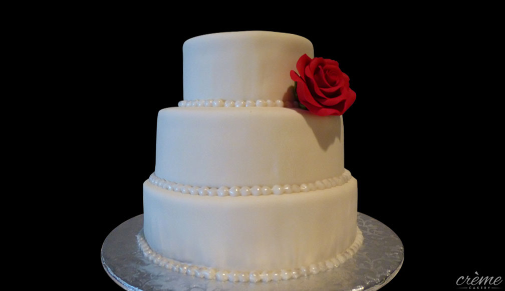 Fondant Wedding Anniversary Cake