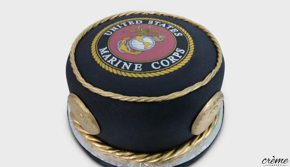Fondant USMC Groom's Cake