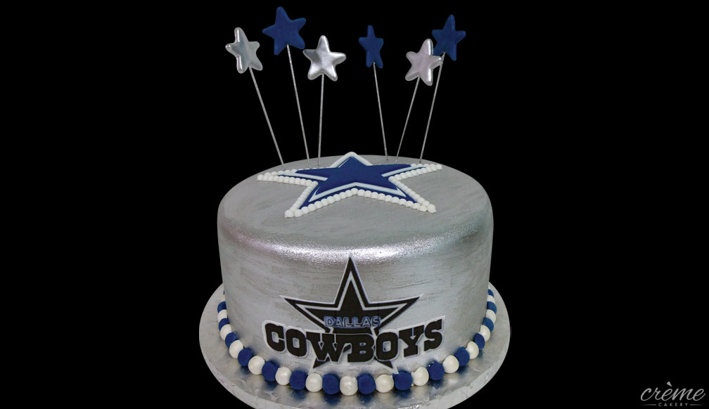 Fondant Dallas Cowboys Groom's Cake