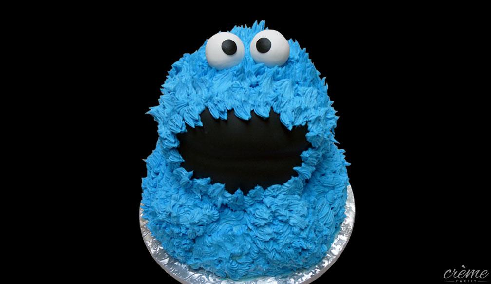 Buttercream Cookie Monster Cake