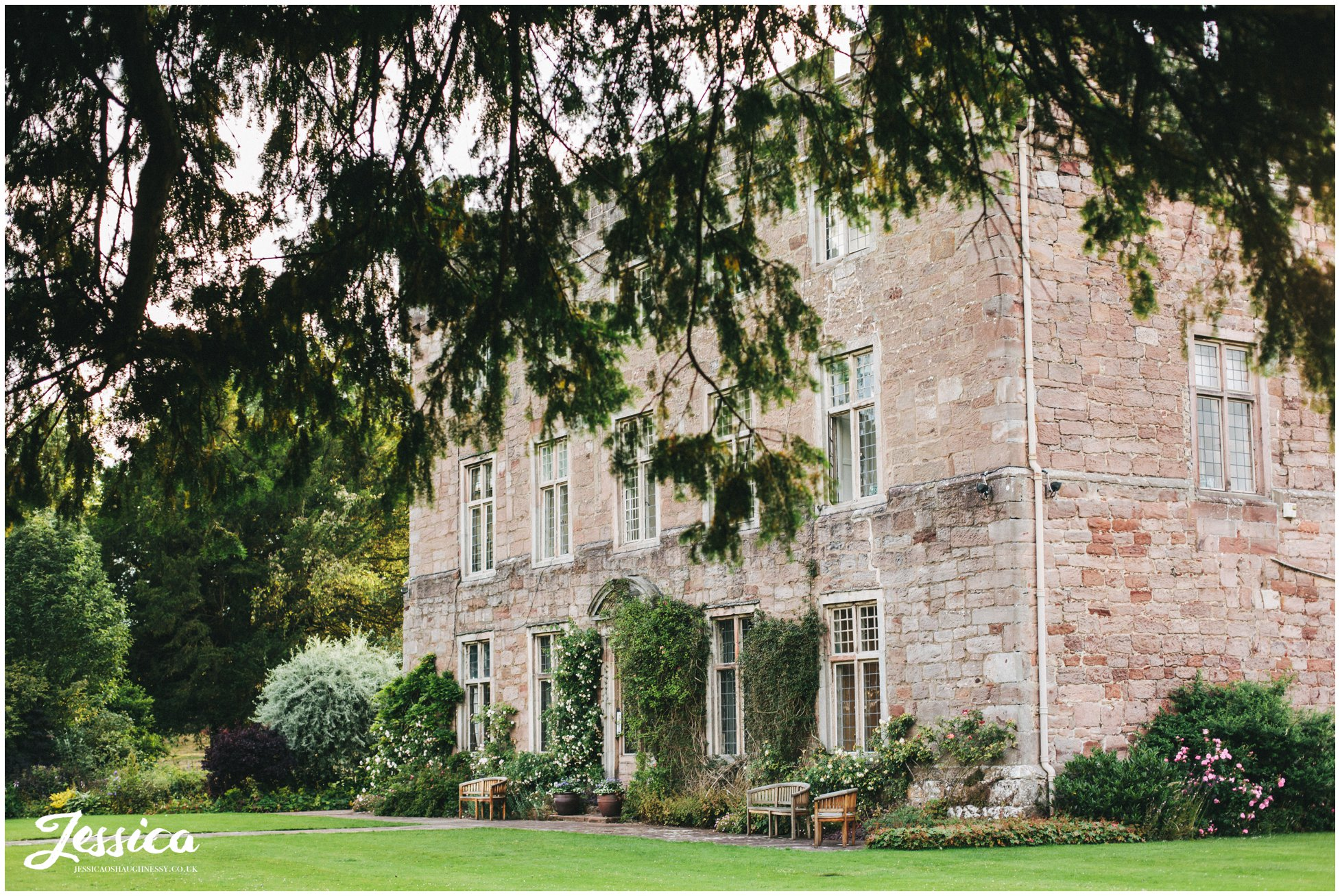 shot of askham hall taken at golden hour in the lake district - wedding photographer
