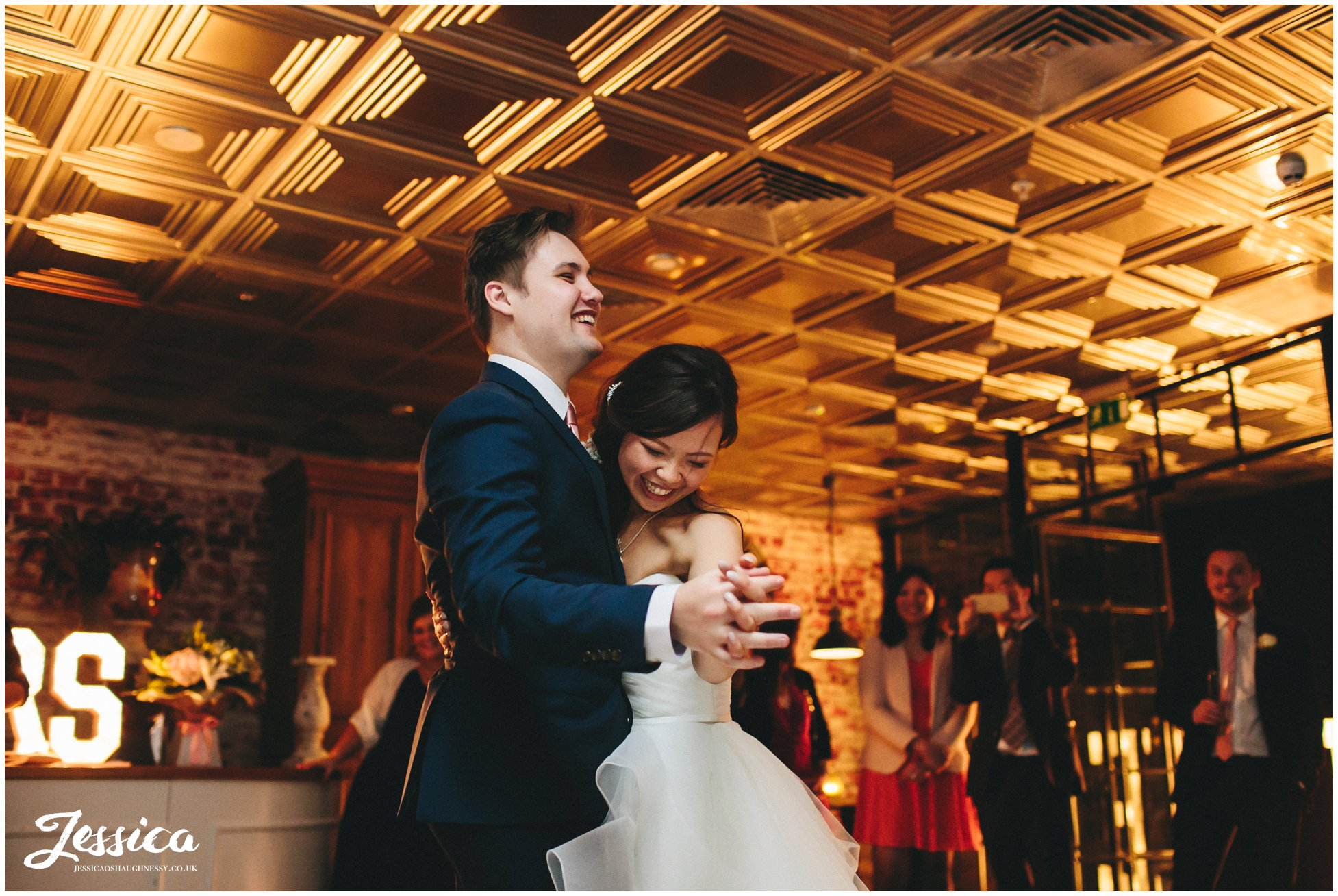 zoe & ben share their their first dance - manchester wedding photography