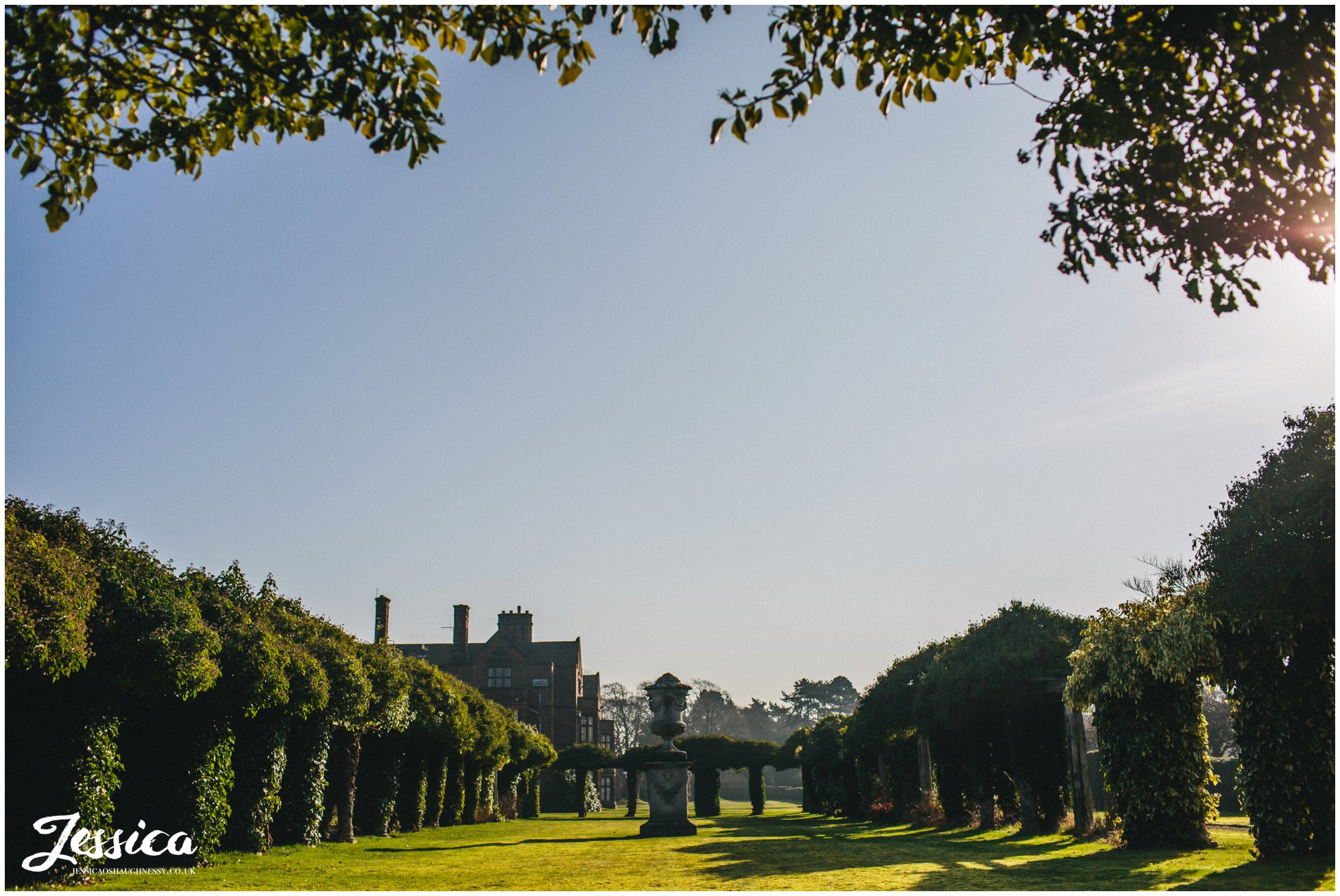 the grounds of thornton manor on the wirral