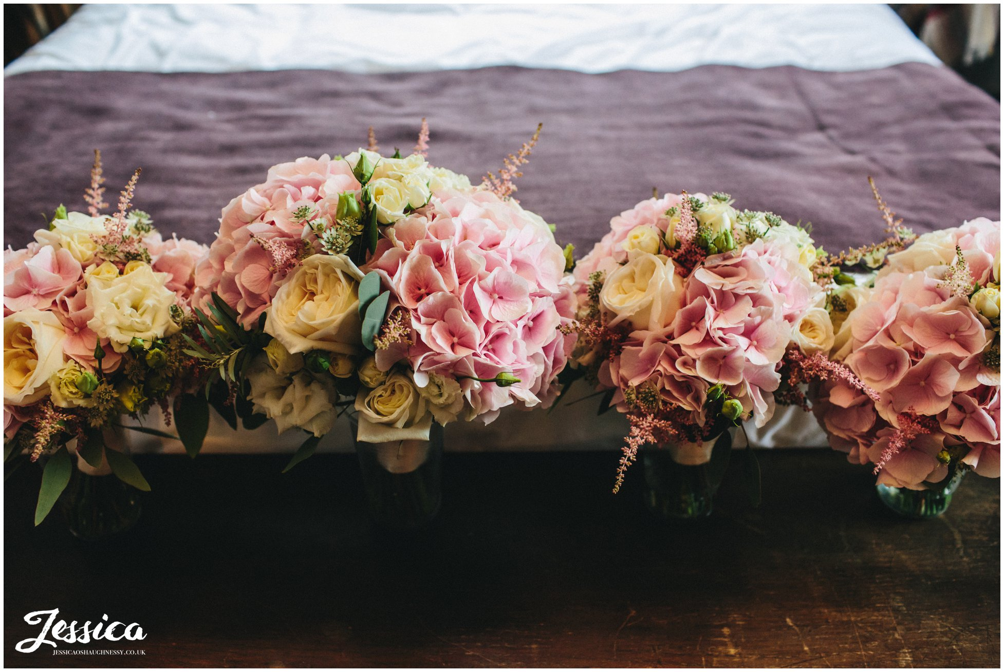 bridal flowers at a cheshire wedding