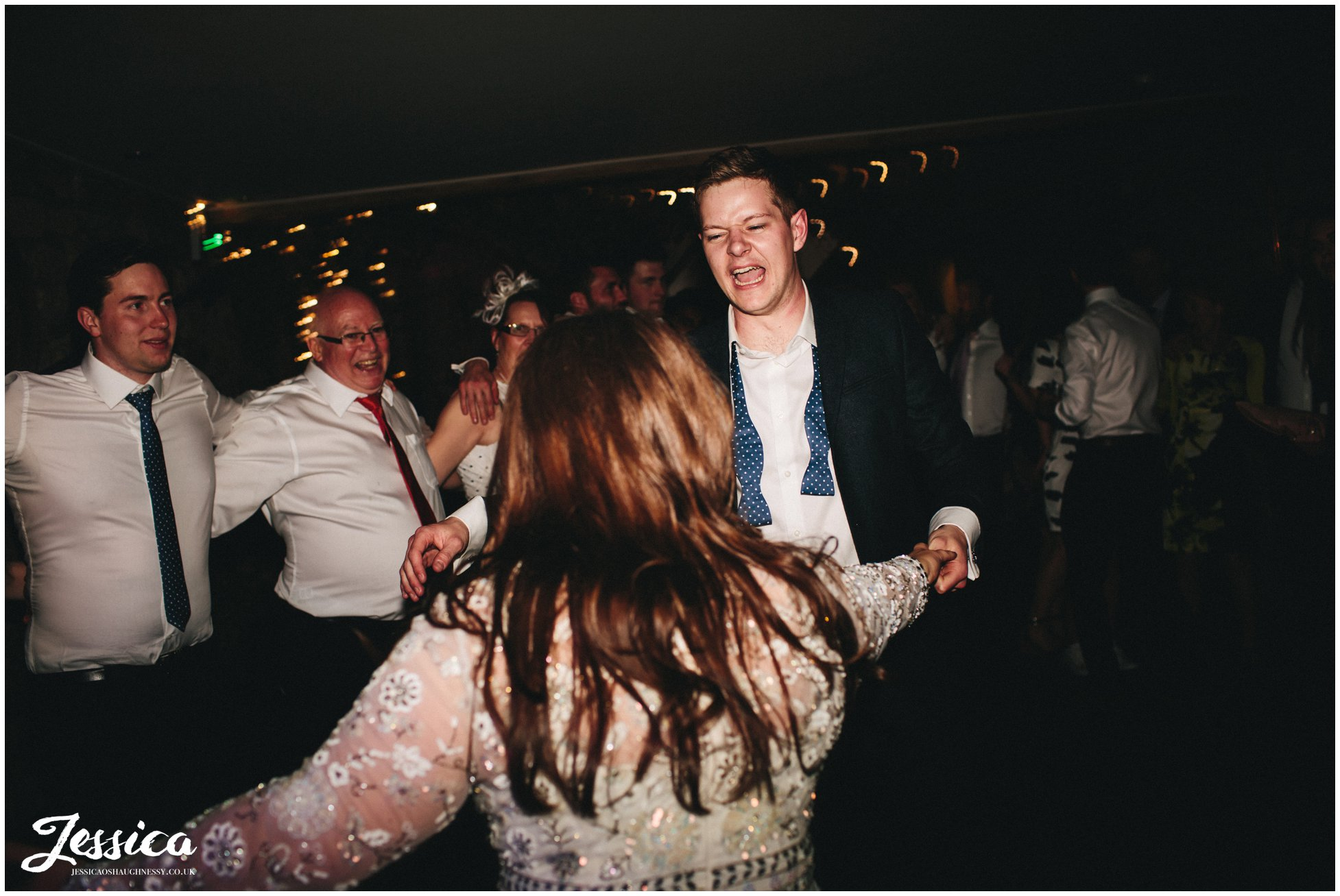 bride and groom dance later on in the evening