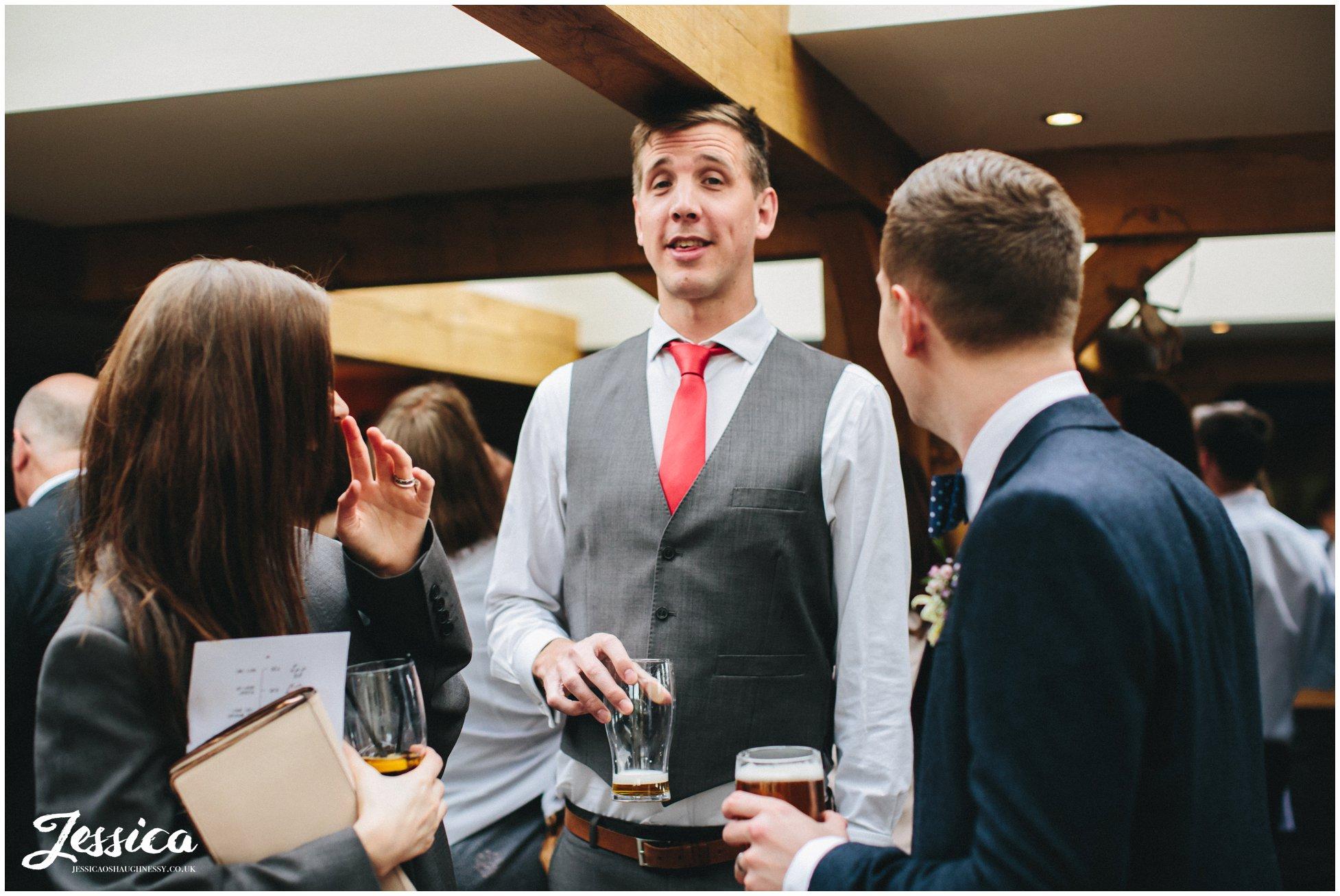 guests celebrating at a tower hill barns wedding