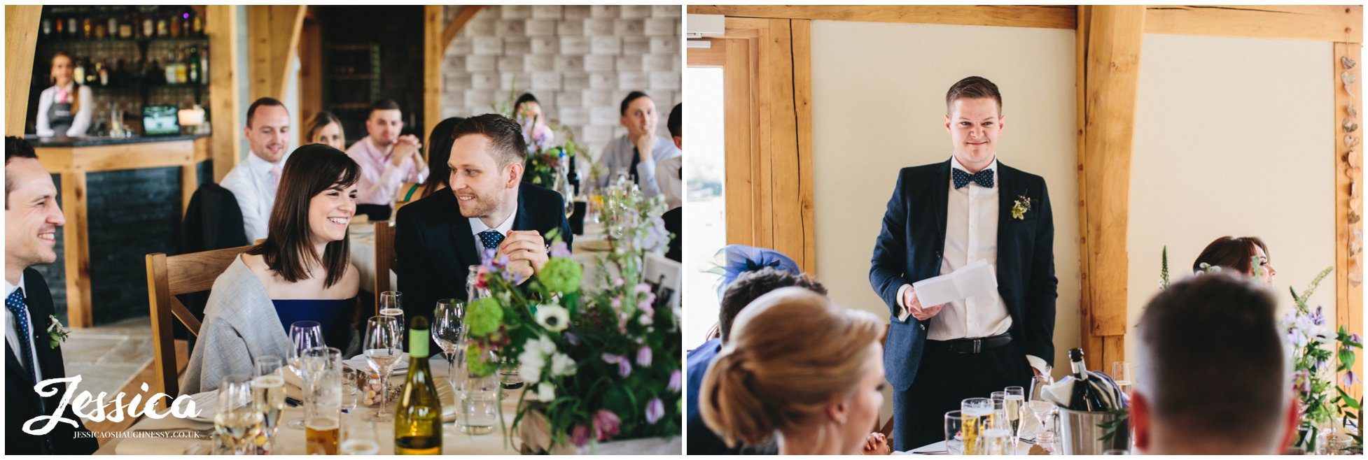 the groom's speech on his wedding day in north wales