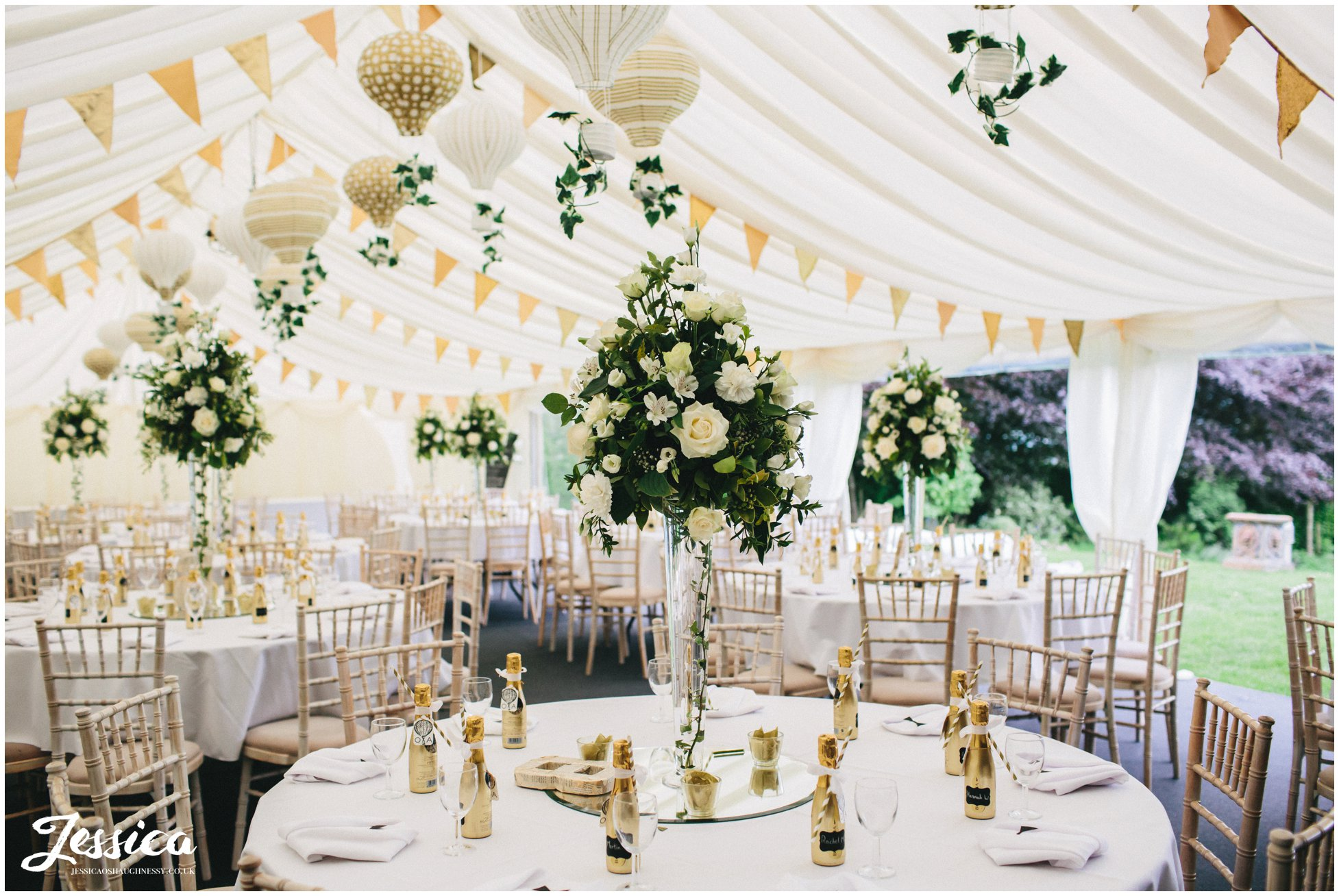 gatsby inspried wedding room at trevor hall