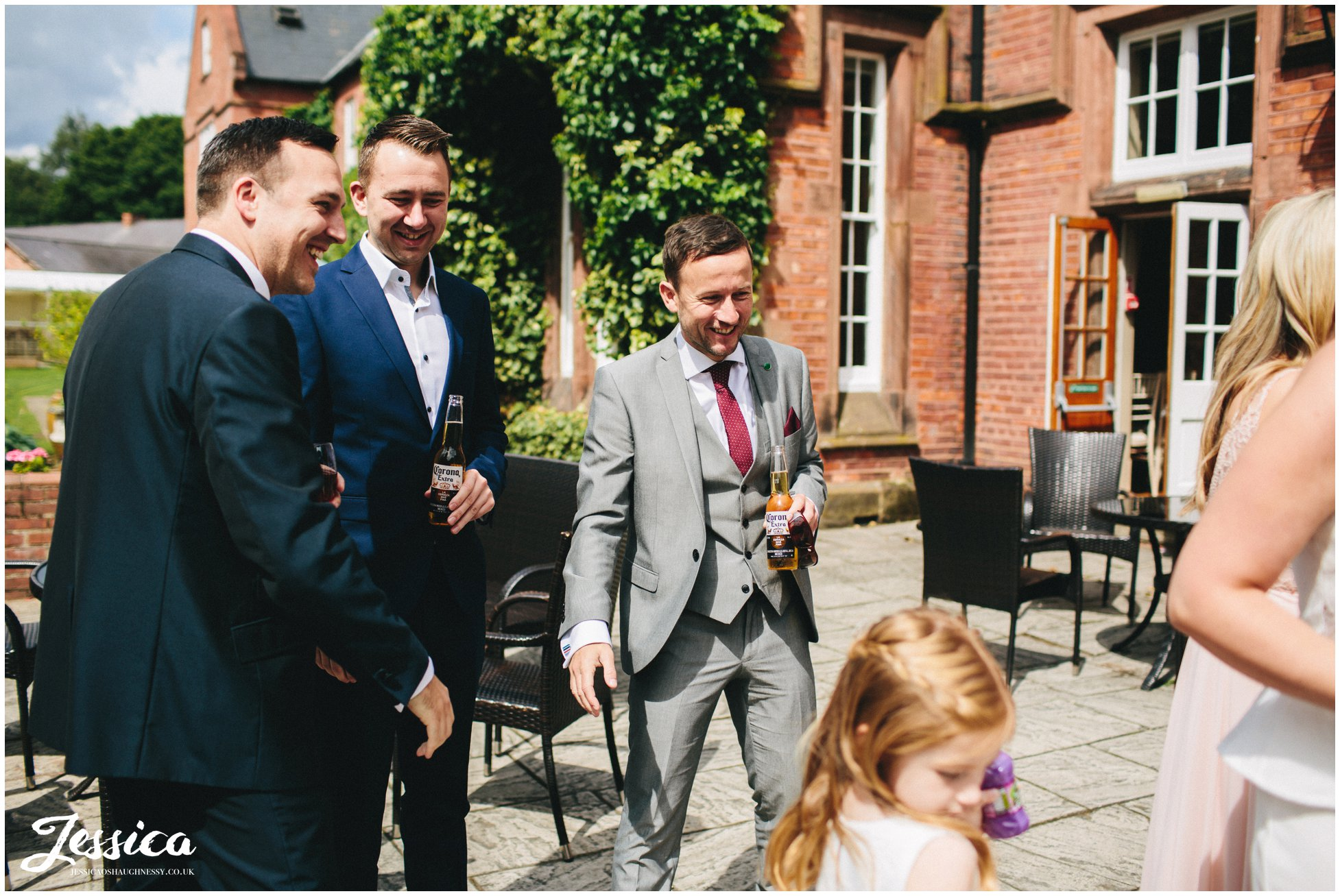 candid guest shots - cheshire wedding photographer