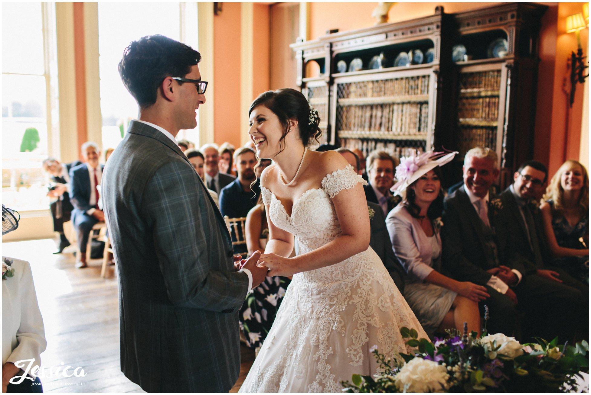 bride & groom exchange rings