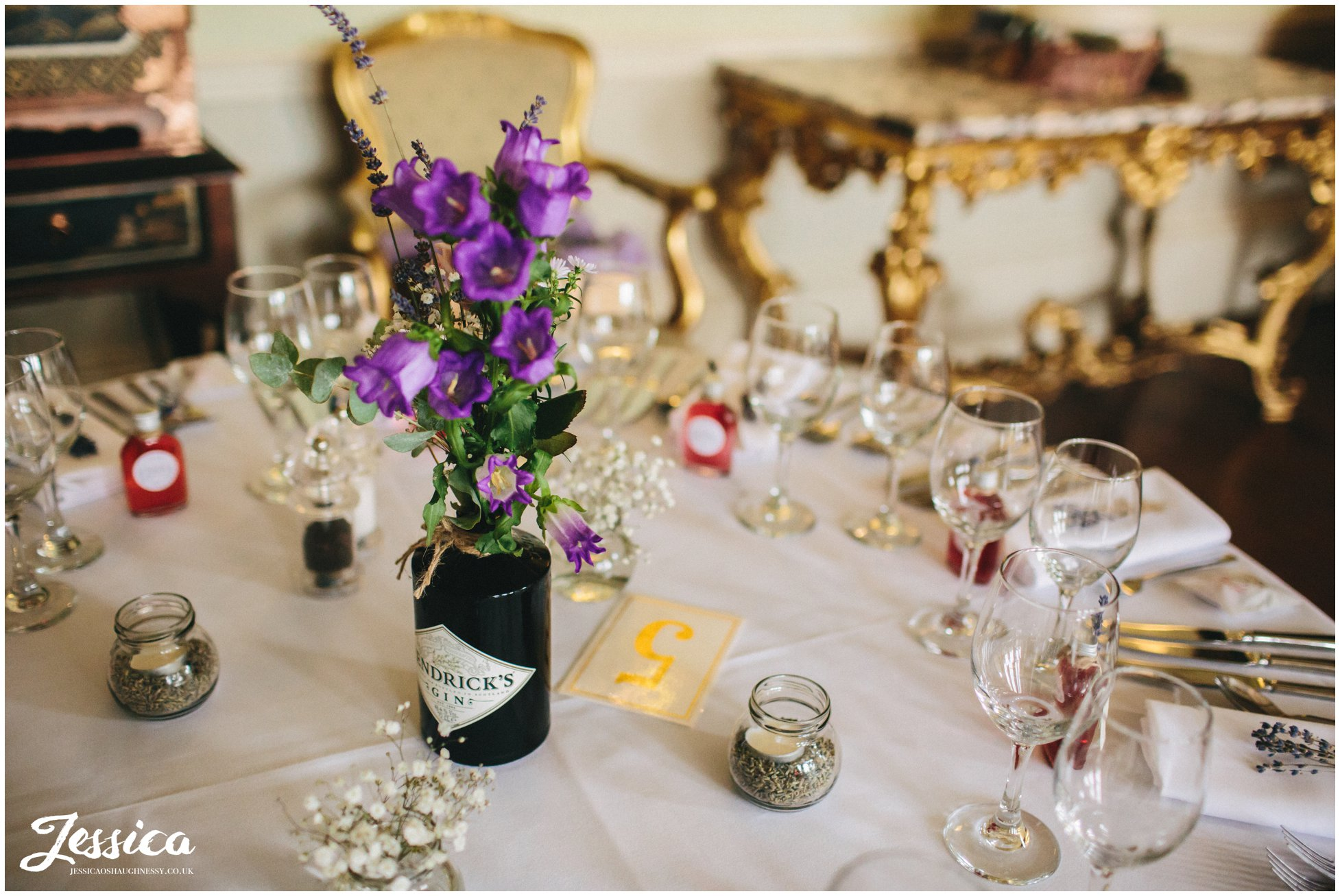wedding table details ready for guests