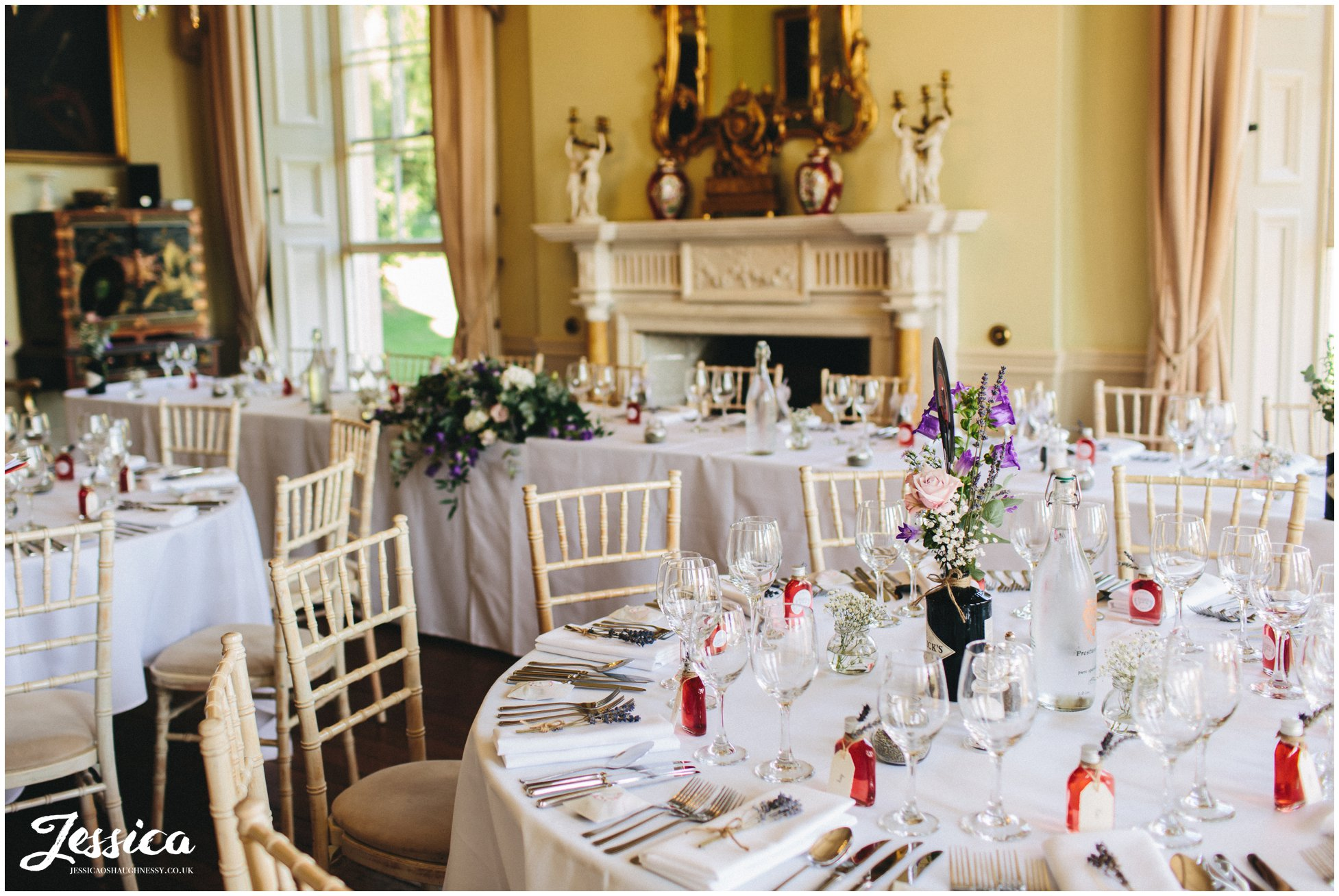 tables covered in wedding details