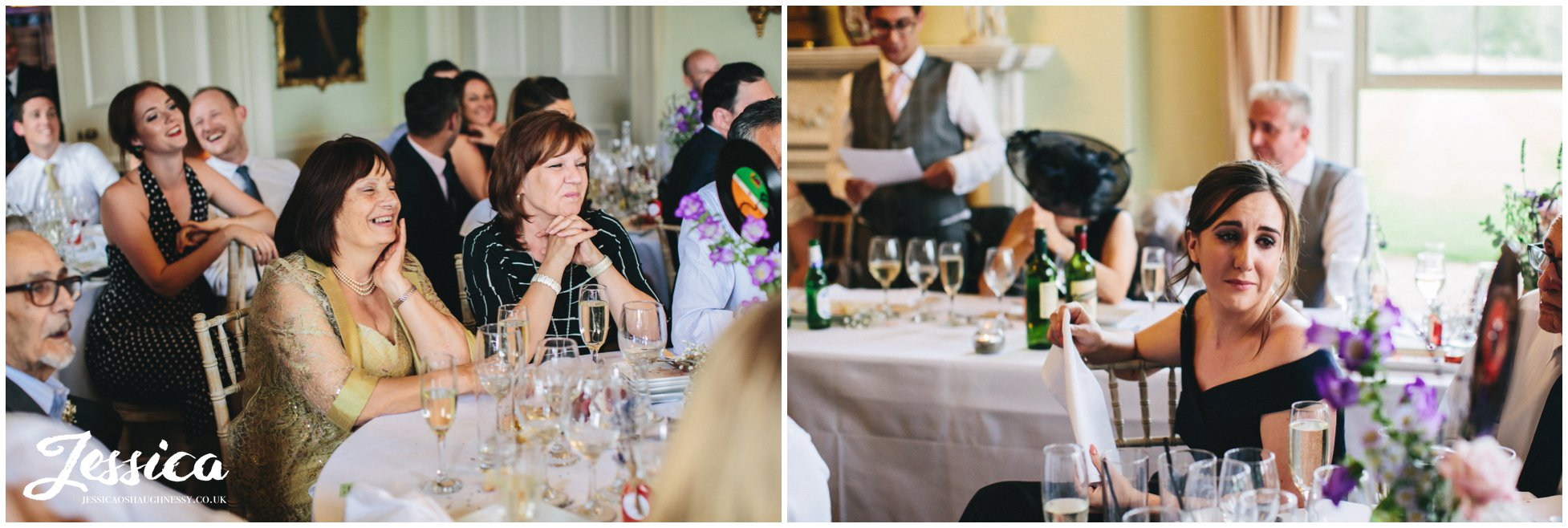 guests get emotional during speeches