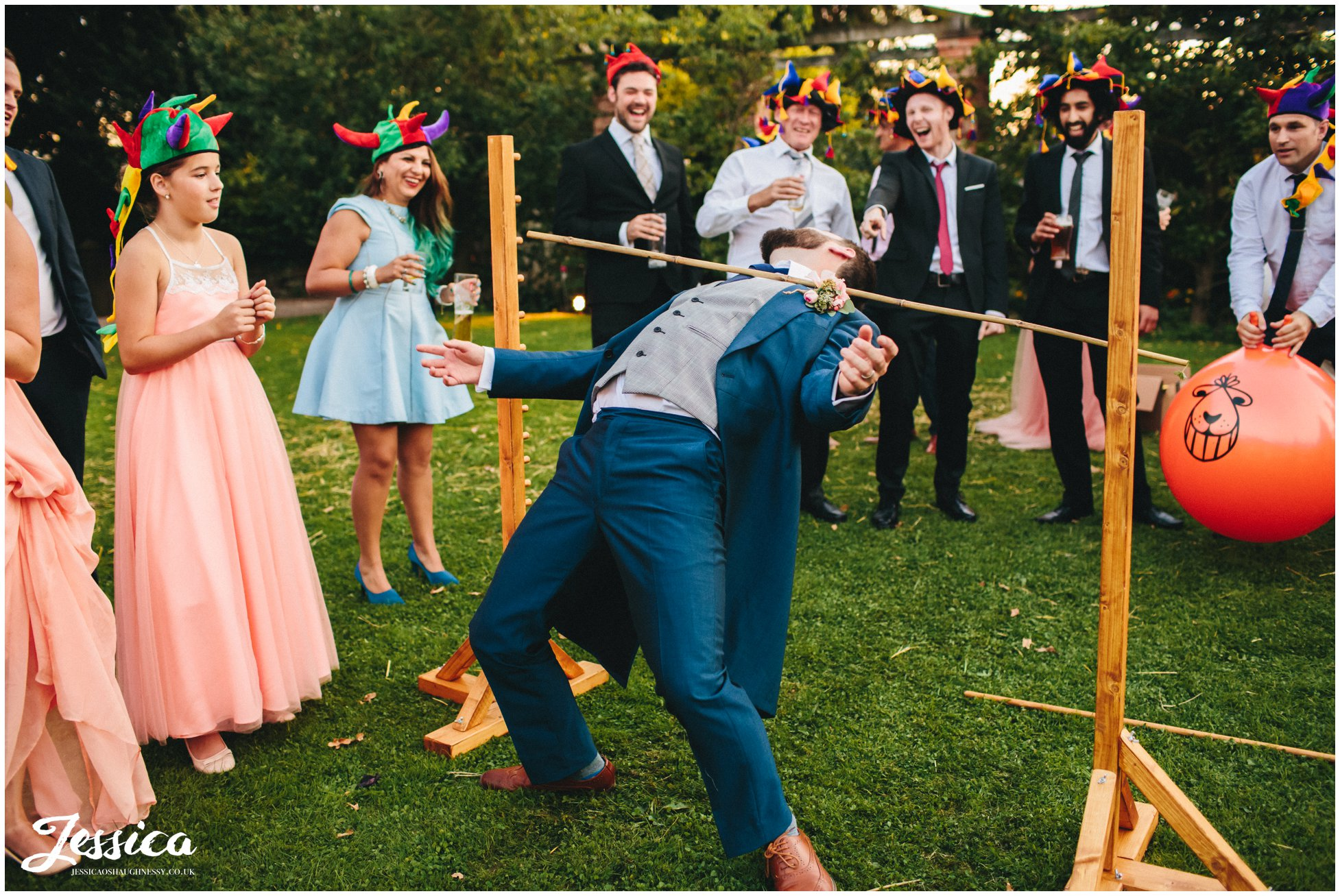 groom plays on the limbo at willington hall