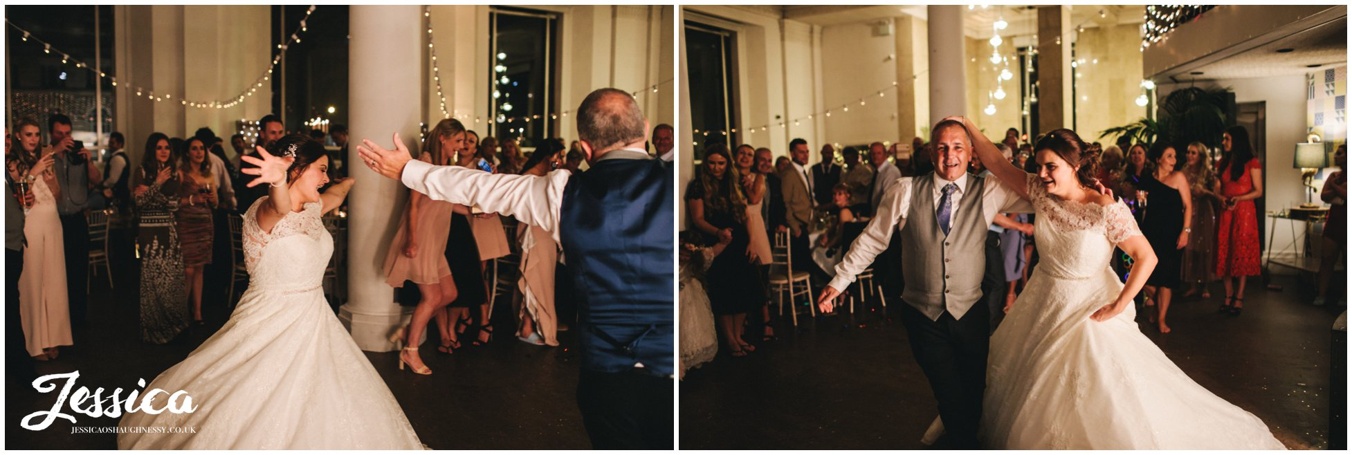 father and daughter dance at oh me oh my, liverpool