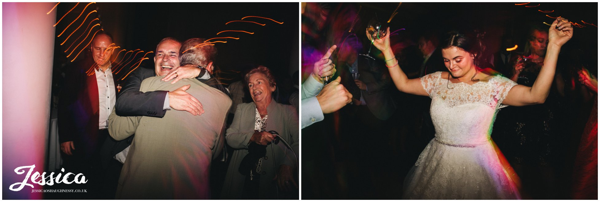 bride dances on her wedding day in liverpool