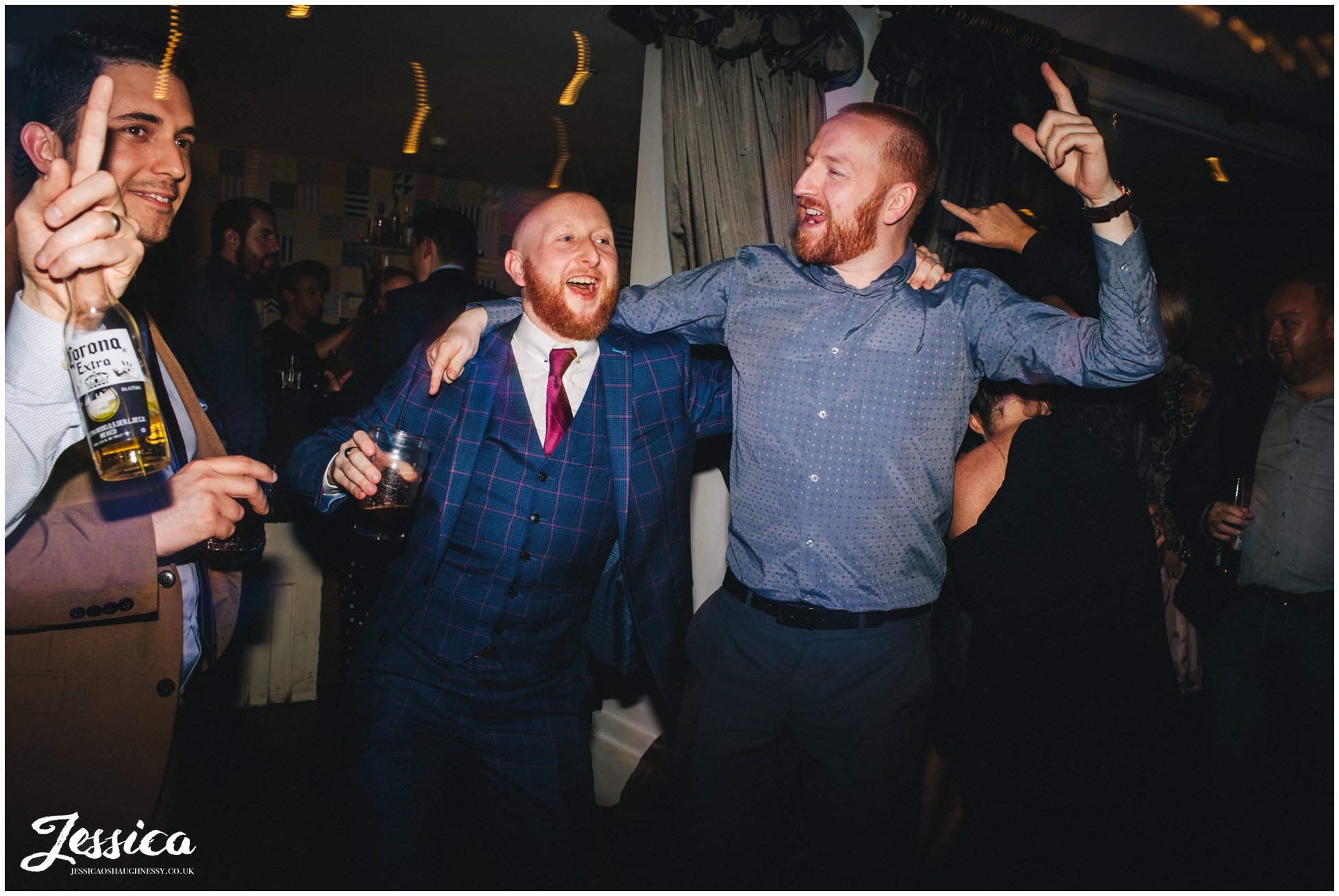 guests join newly wed's on the dancefloor after the first dance