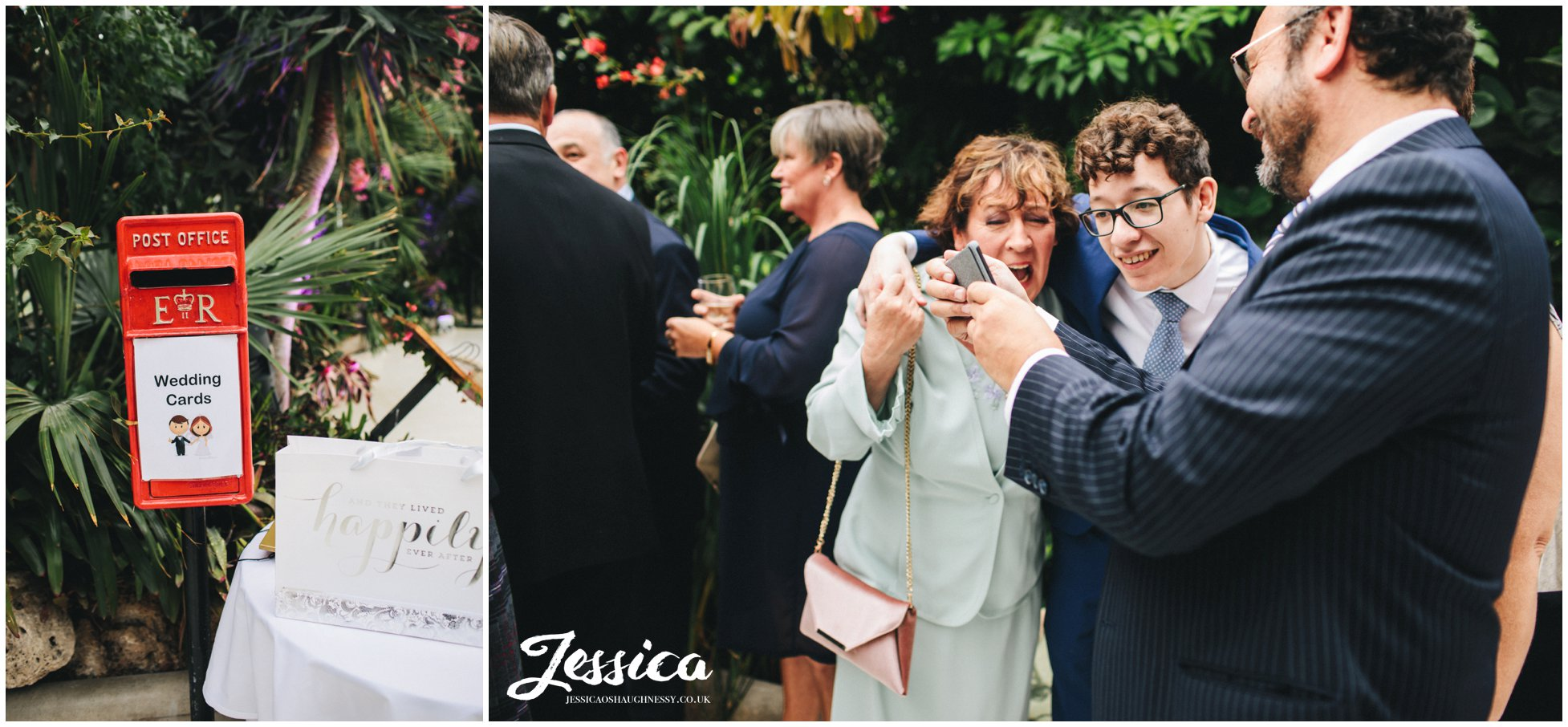family of the bride and groom at sefton palm house in liverpool
