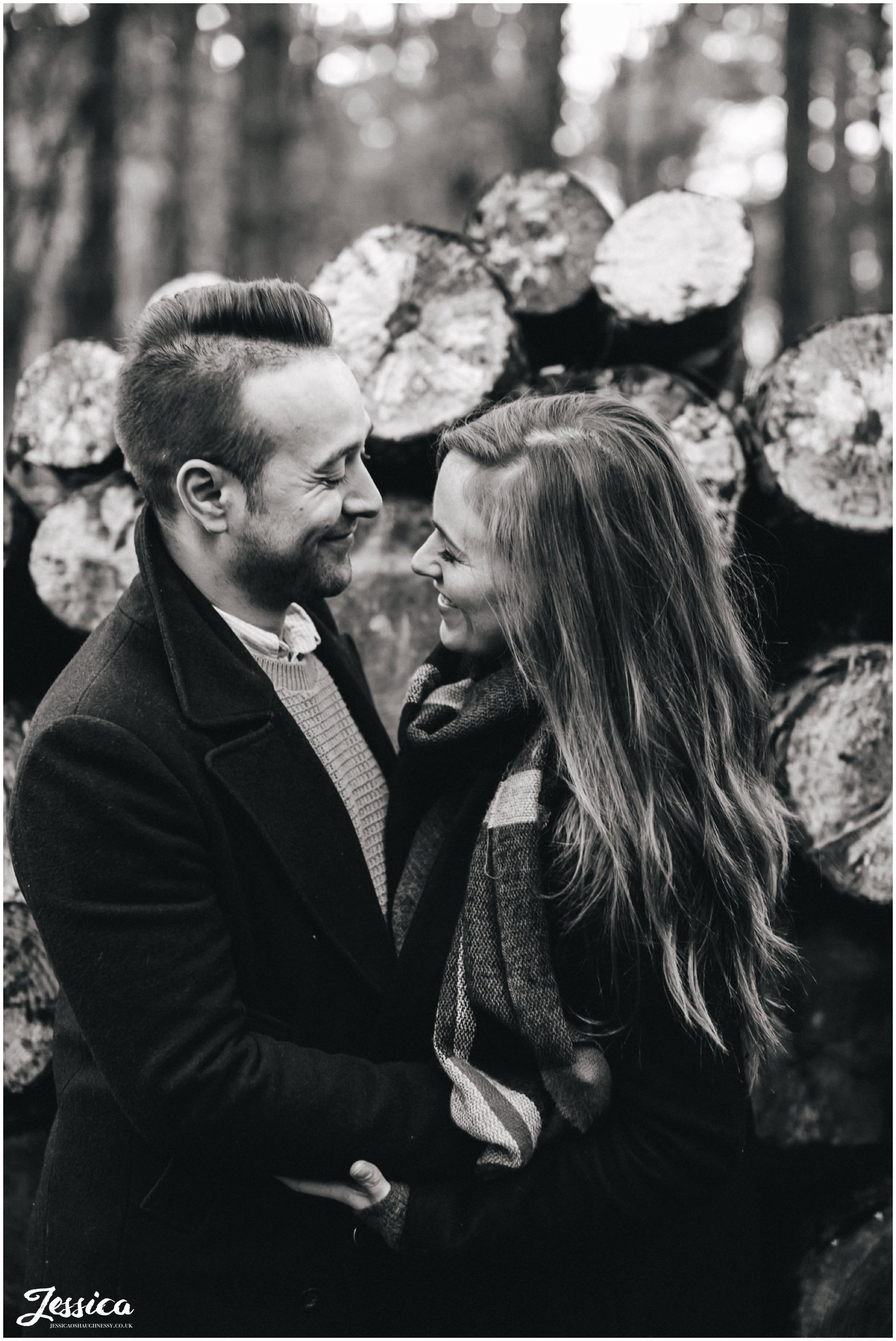 black and white photograph of couple on their pre-wedding photo shoot