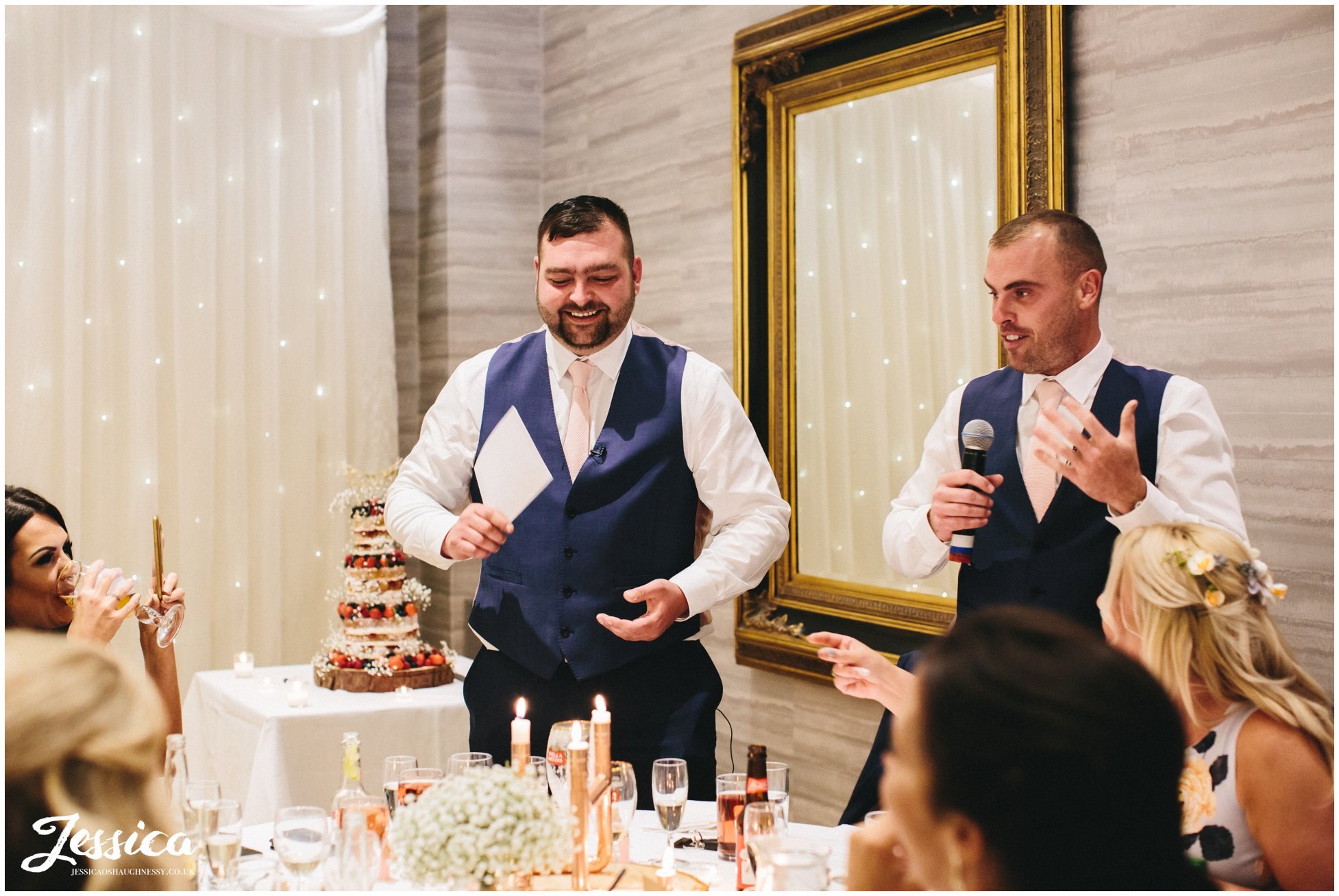 the best men give their speech at brook hall hotel