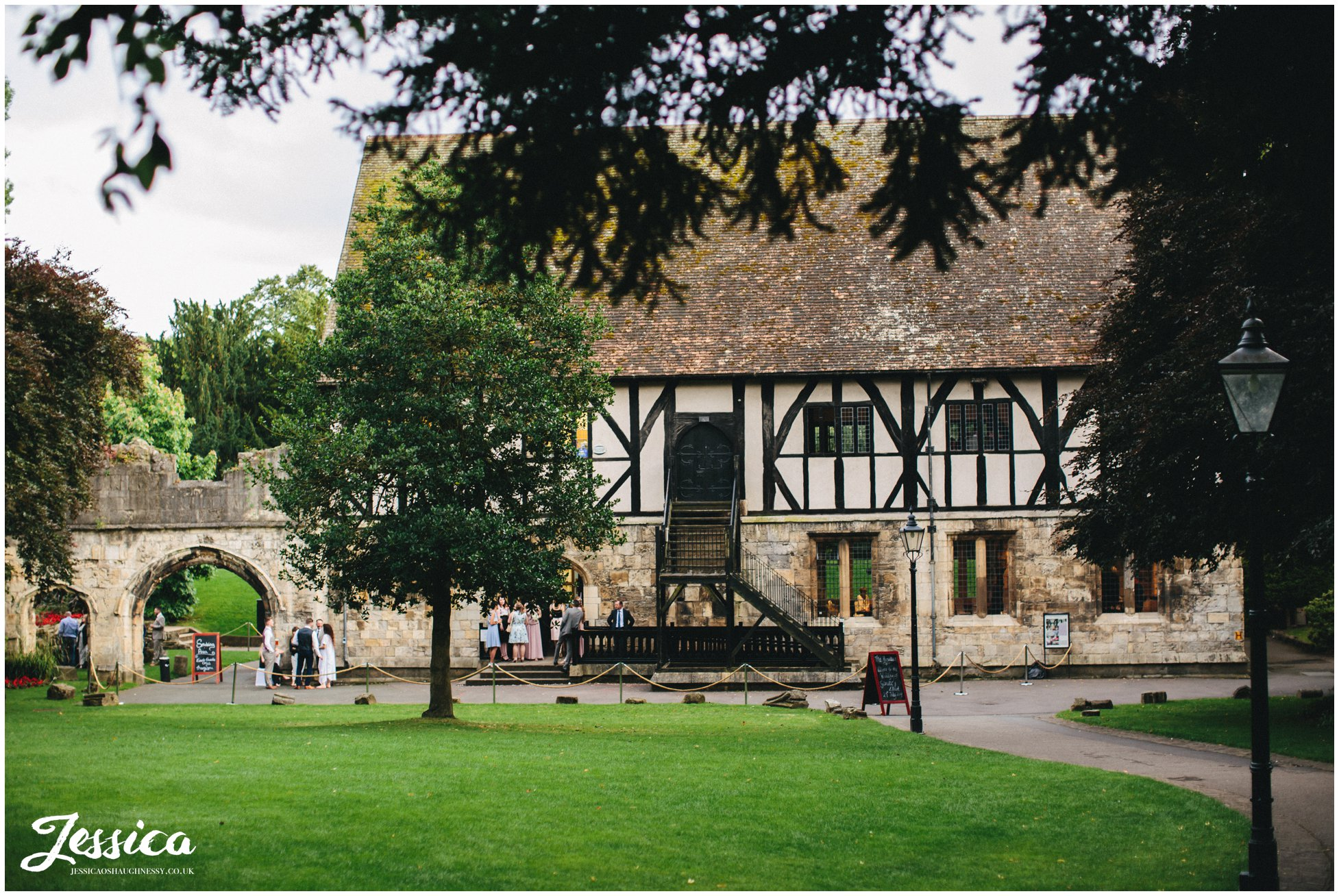a photograph of the york wedding venue, the hospitium