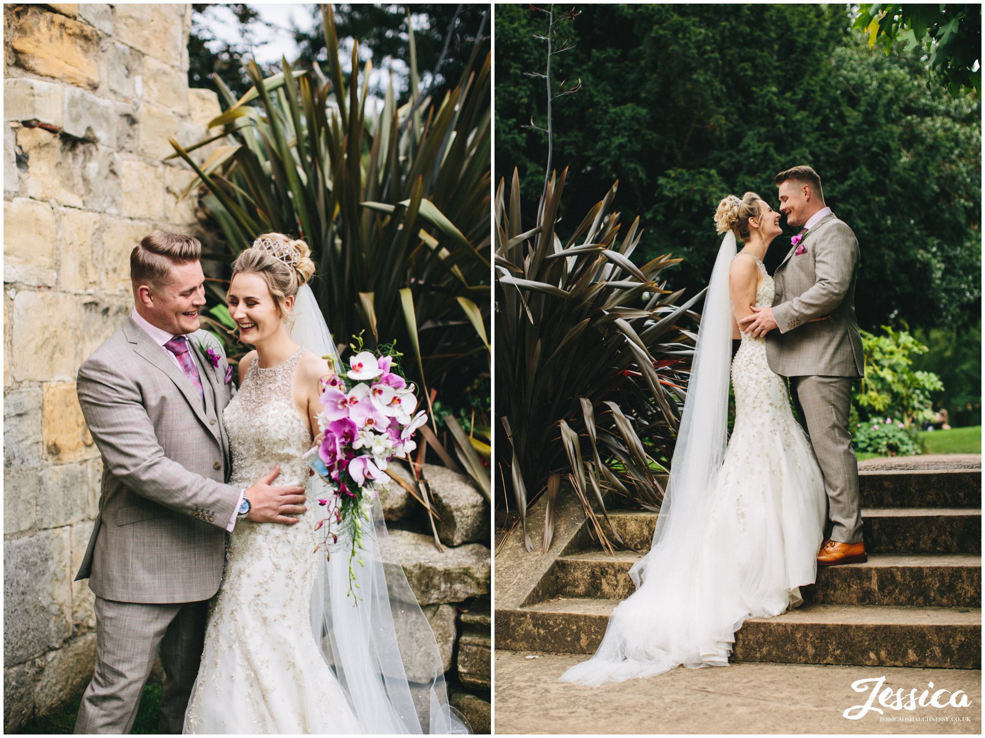 newly wed's embrace in celebration at the hospitium in york