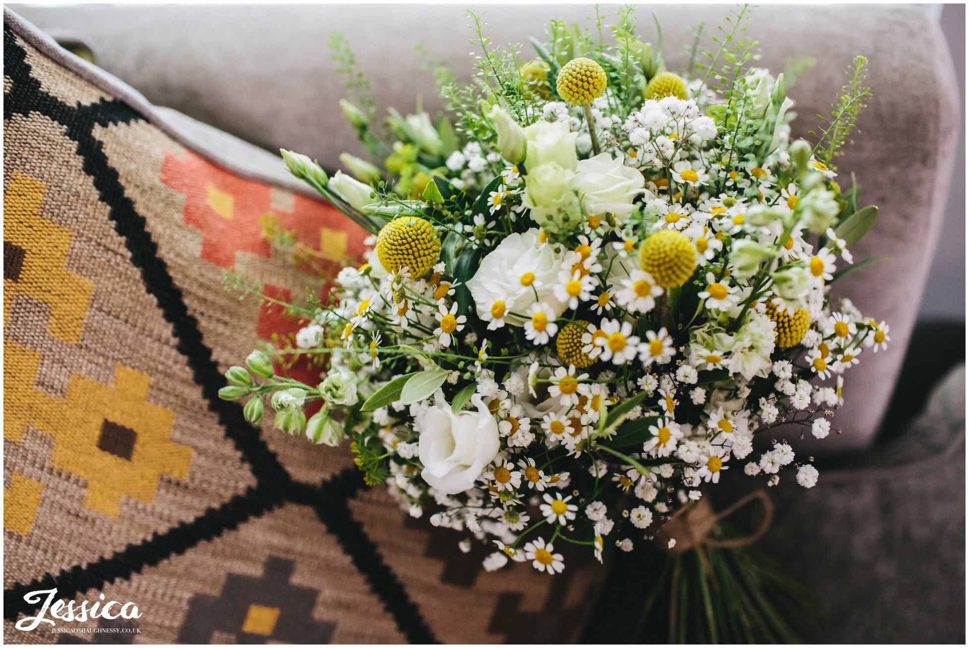 yellow wild flowers for the brides bouquet