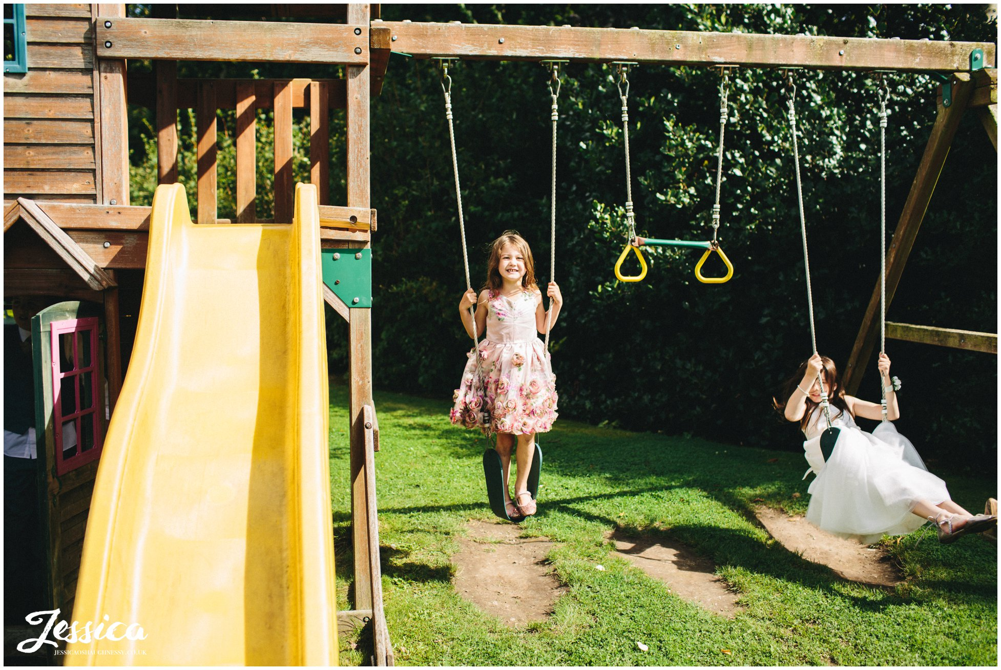 children playing on the swings at leverhulme hotel