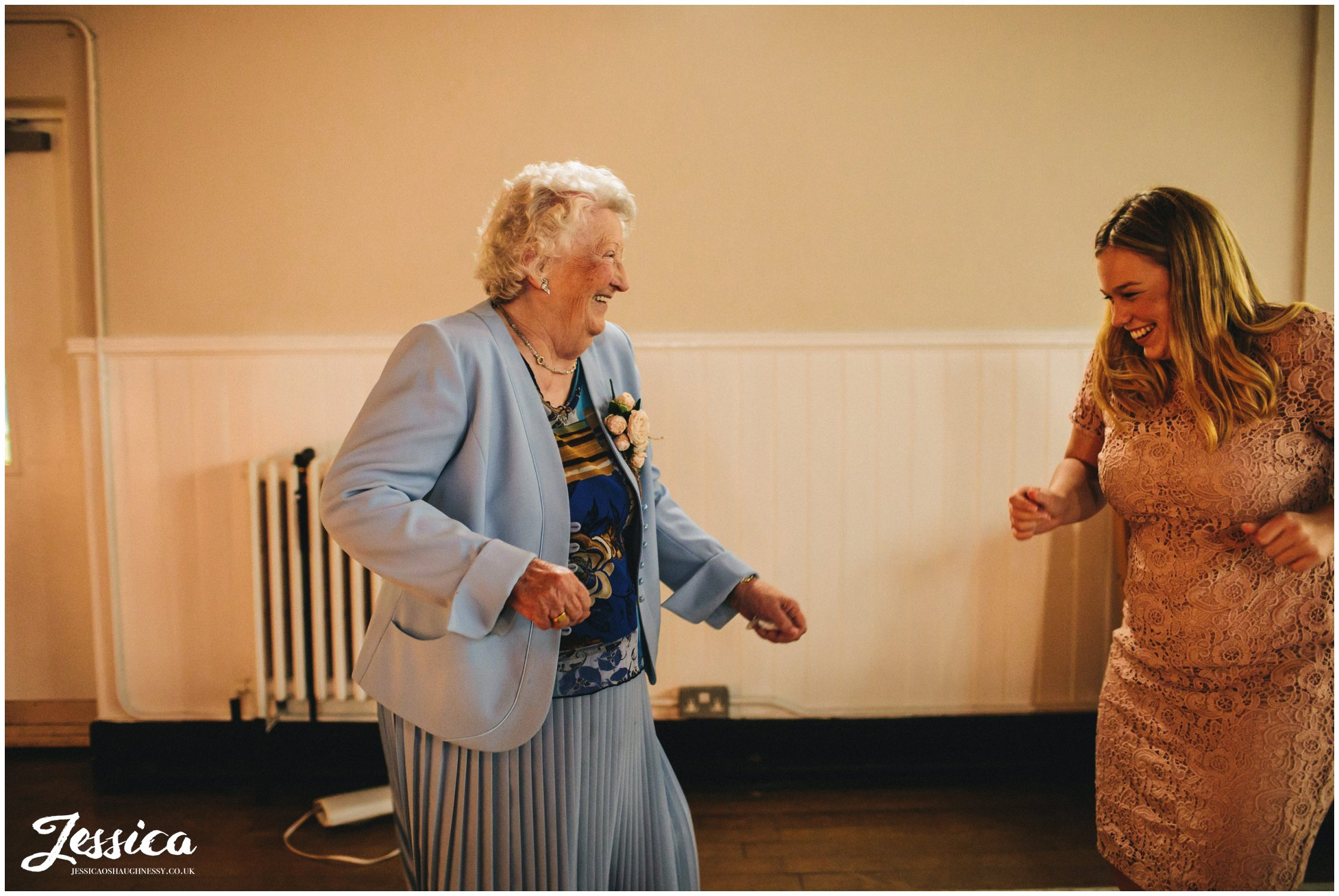 grandma dances at the manchester wedding reception