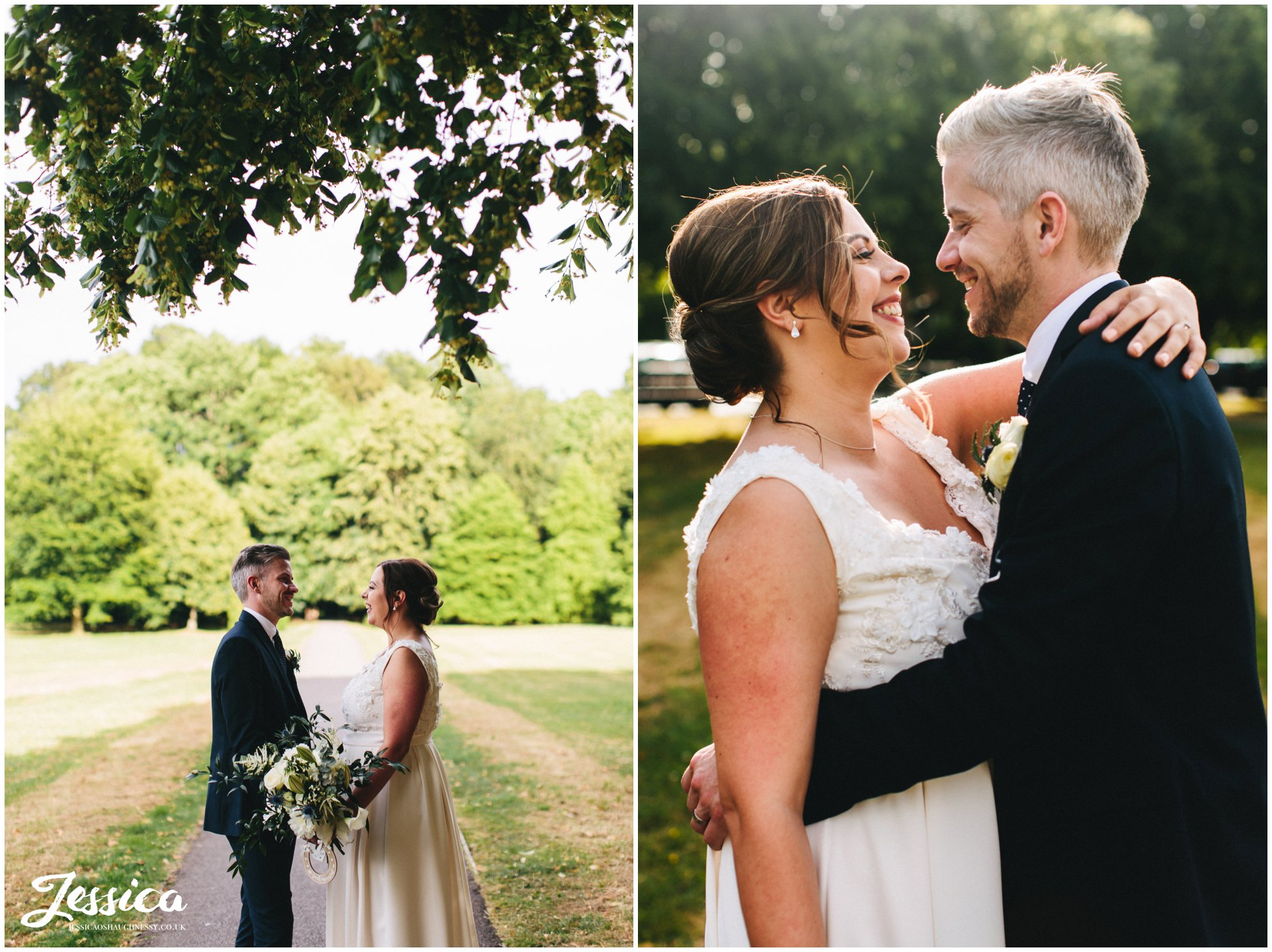 newly wed's kiss in knutsford park