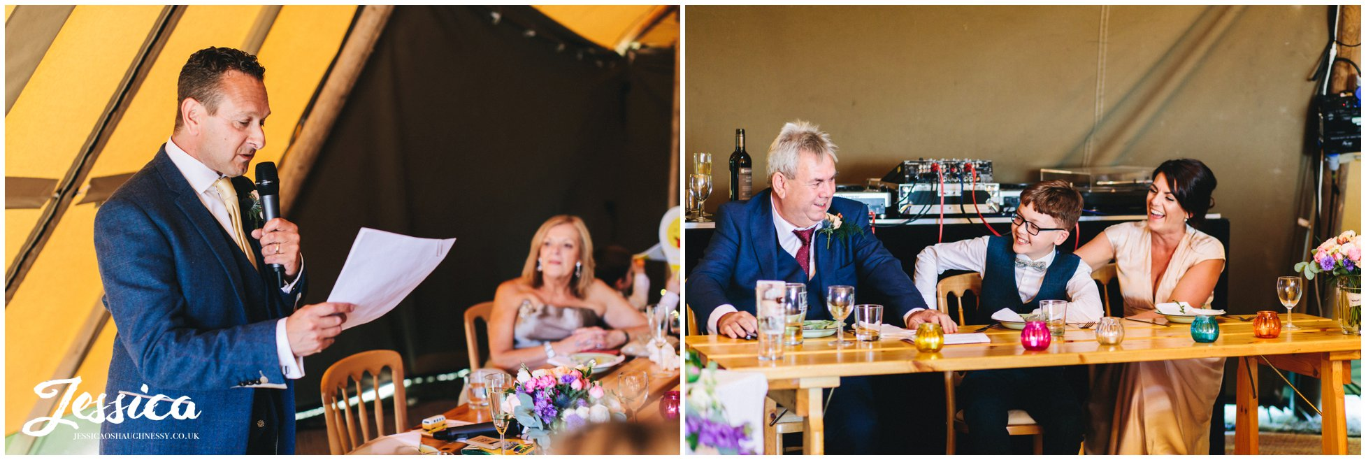 the best man gets the top table laughing
