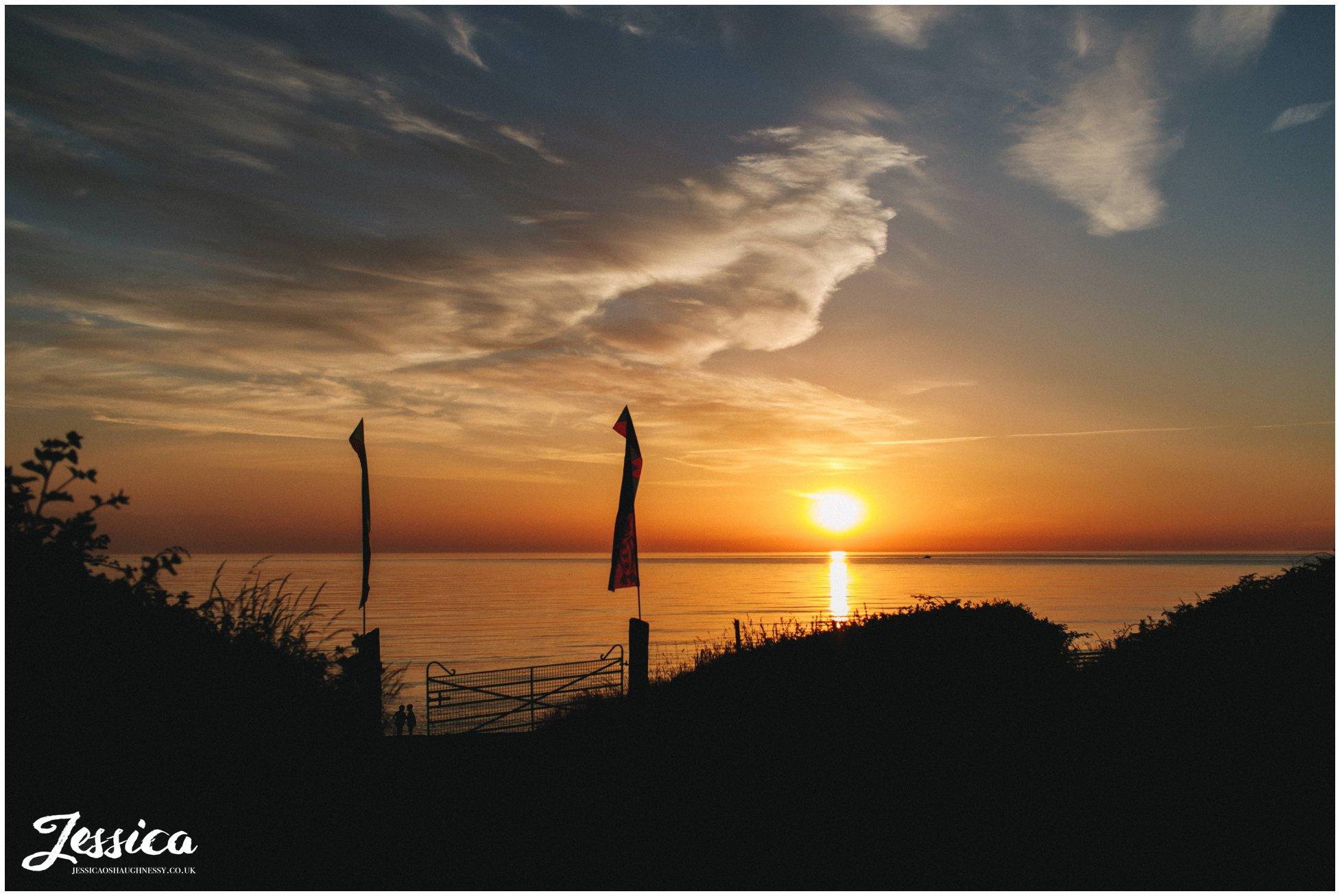the sun finally sets over Caernarfon bay