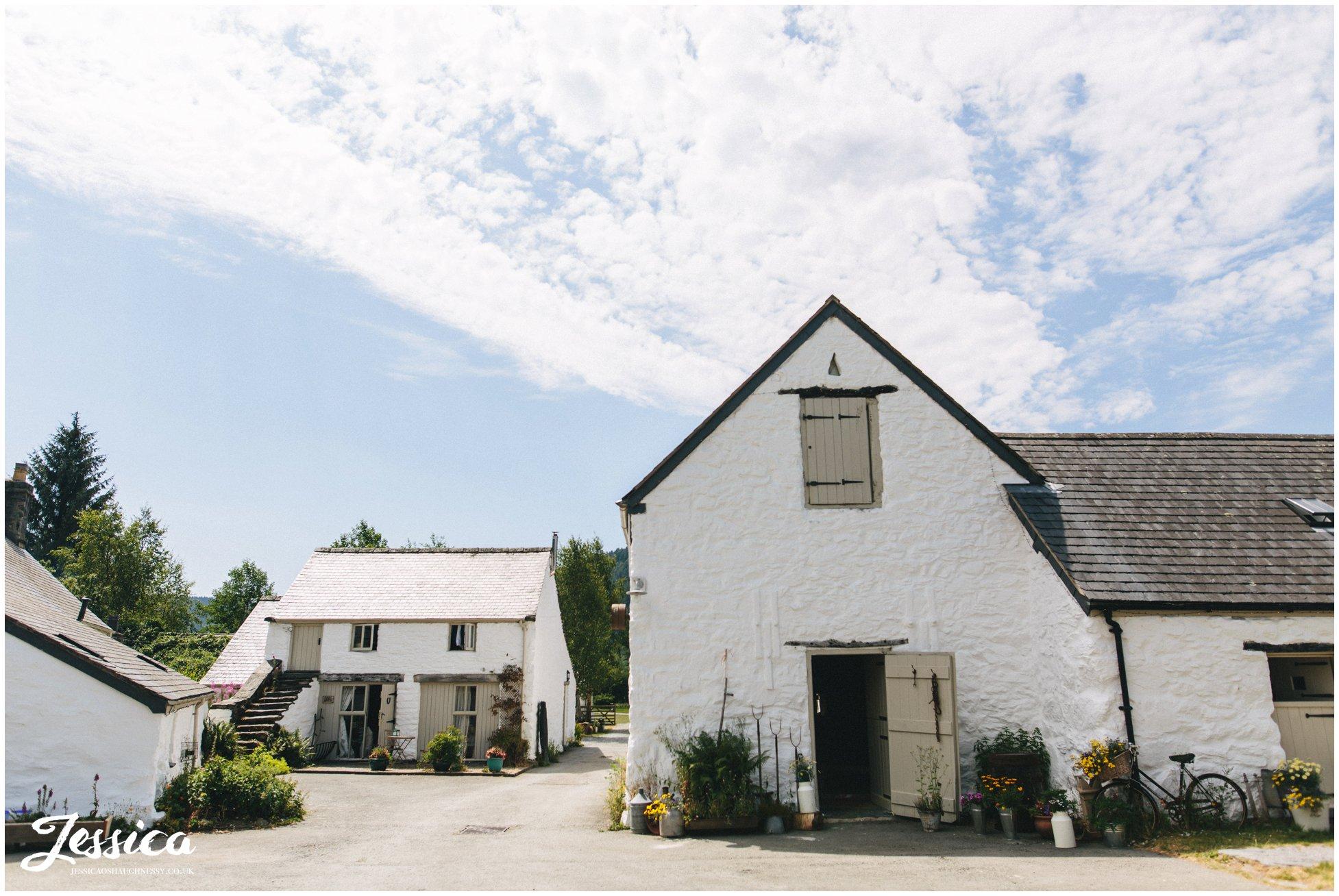 Haford Farm in north wales on a sunny day