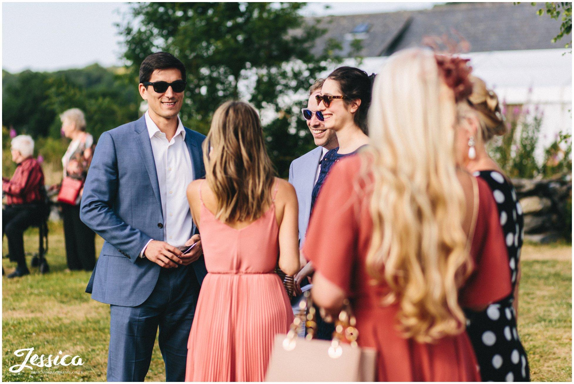 guests enjoy the welsh sunshine at hafod farm