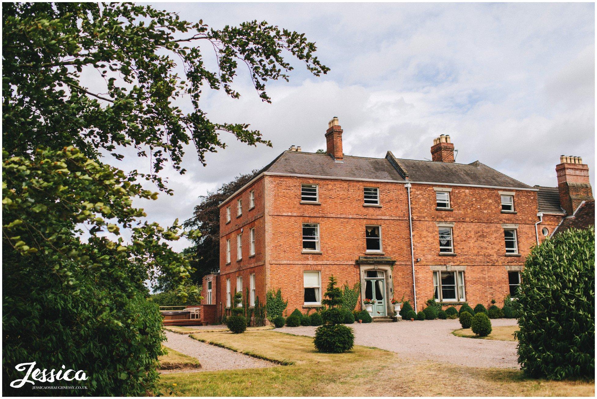 sugnall hall wedding venue in staffordshire