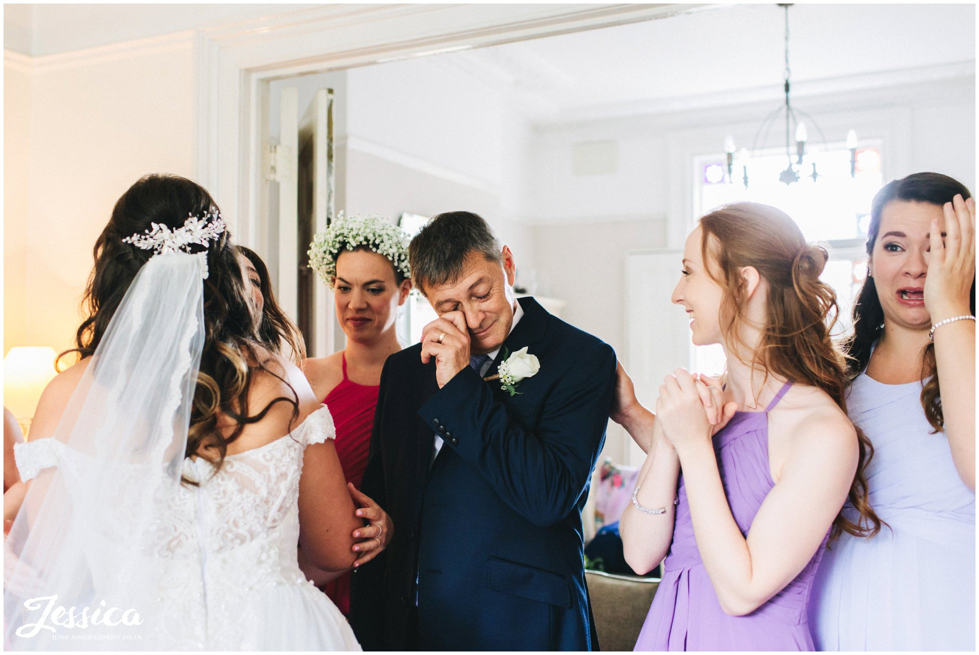 father of the bride gets emotional